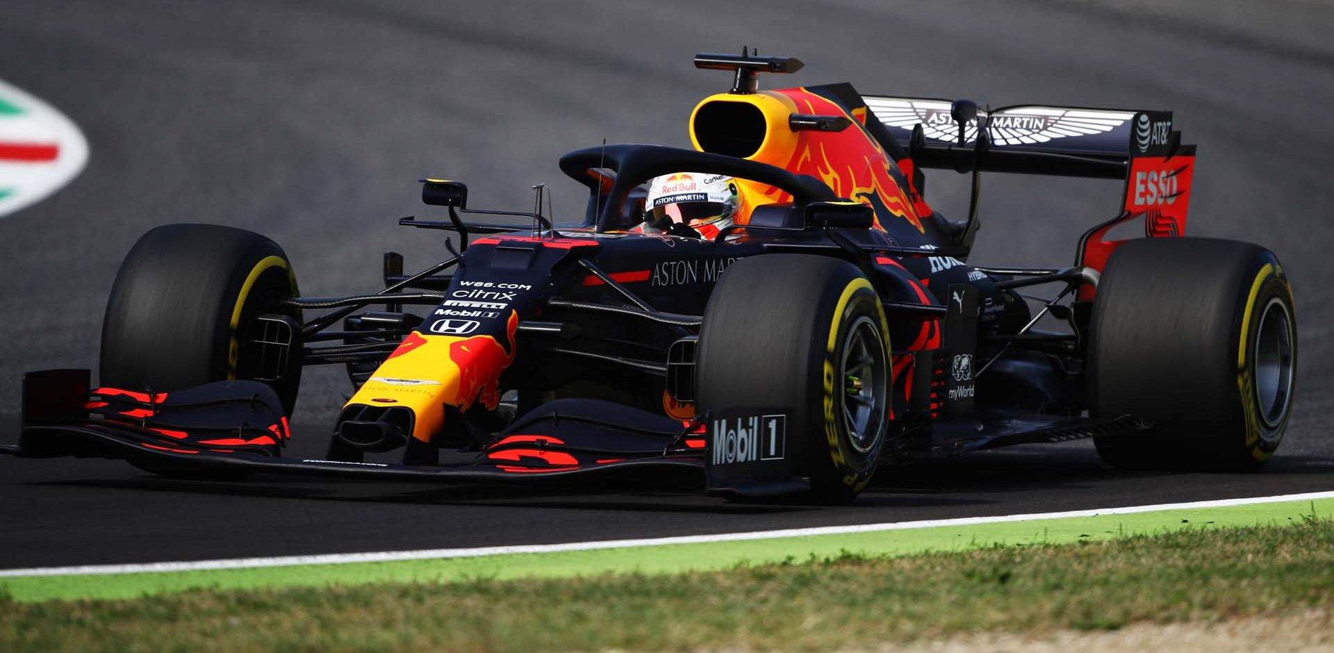 SCARPERIA, ITALY - SEPTEMBER 11: Max Verstappen of the Netherlands driving the (33) Aston Martin Red Bull Racing RB16 on track during practice ahead of the F1 Grand Prix of Tuscany at Mugello Circuit on September 11, 2020 in Scarperia, Italy. (Photo by Bryn Lennon/Getty Images)
