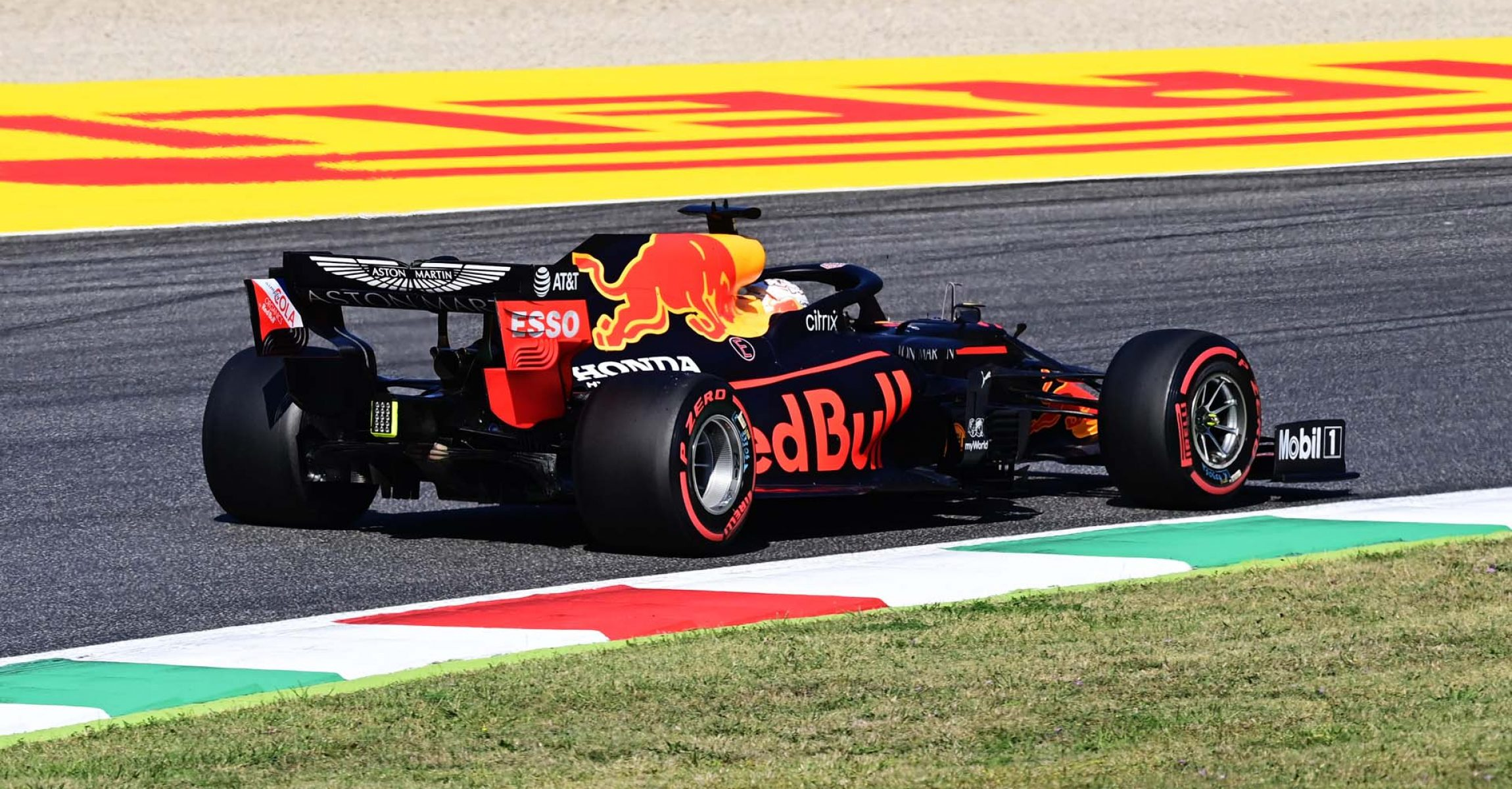SCARPERIA, ITALY - SEPTEMBER 12: Max Verstappen of the Netherlands driving the (33) Aston Martin Red Bull Racing RB16 on track during qualifying for the F1 Grand Prix of Tuscany at Mugello Circuit on September 12, 2020 in Scarperia, Italy. (Photo by Miguel Medina - Pool/Getty Images)