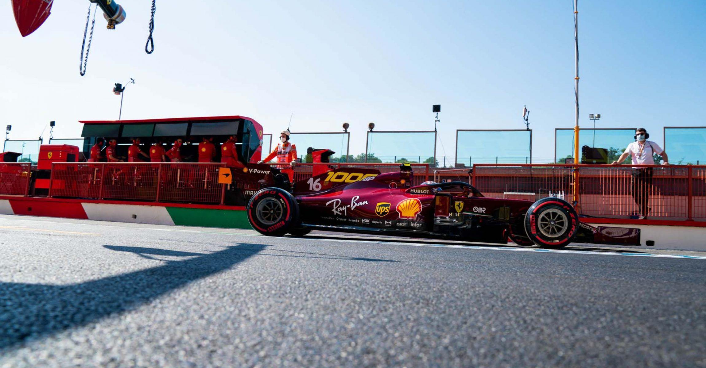 GP TOSCANA FERRARI 1000 F1/2020 -  SABATO 12/09/2020   Charles Leclerc credit: @Scuderia Ferrari Press Office