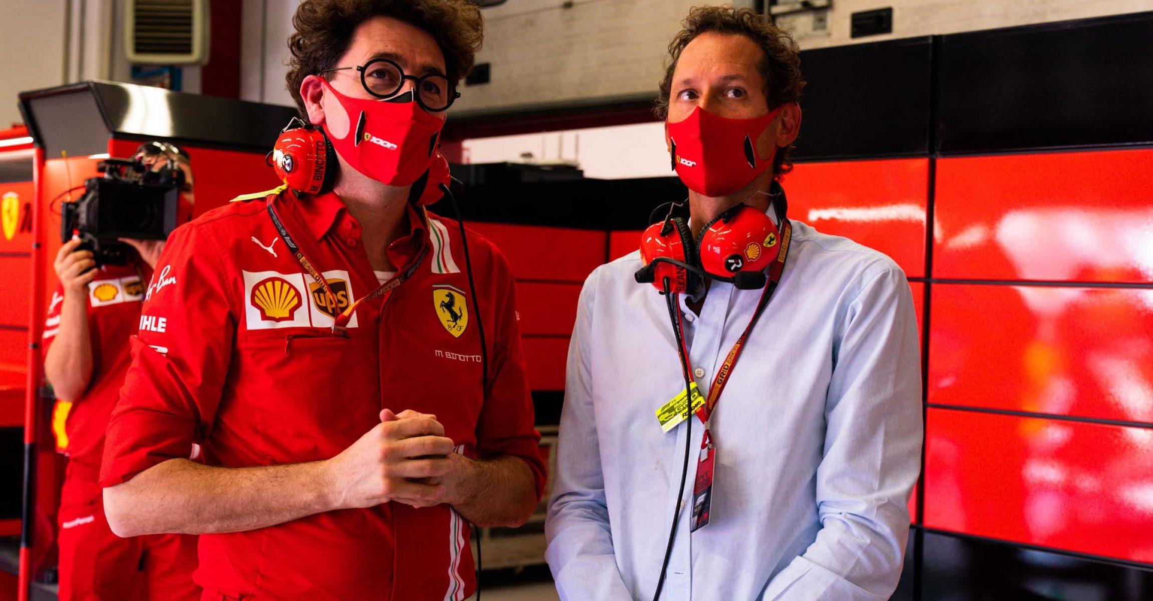 GP TOSCANA FERRARI 1000 F1/2020 -  DOMENICA 13/09/2020   credit: @Scuderia Ferrari Press Office Mattia Binotto John Elkann