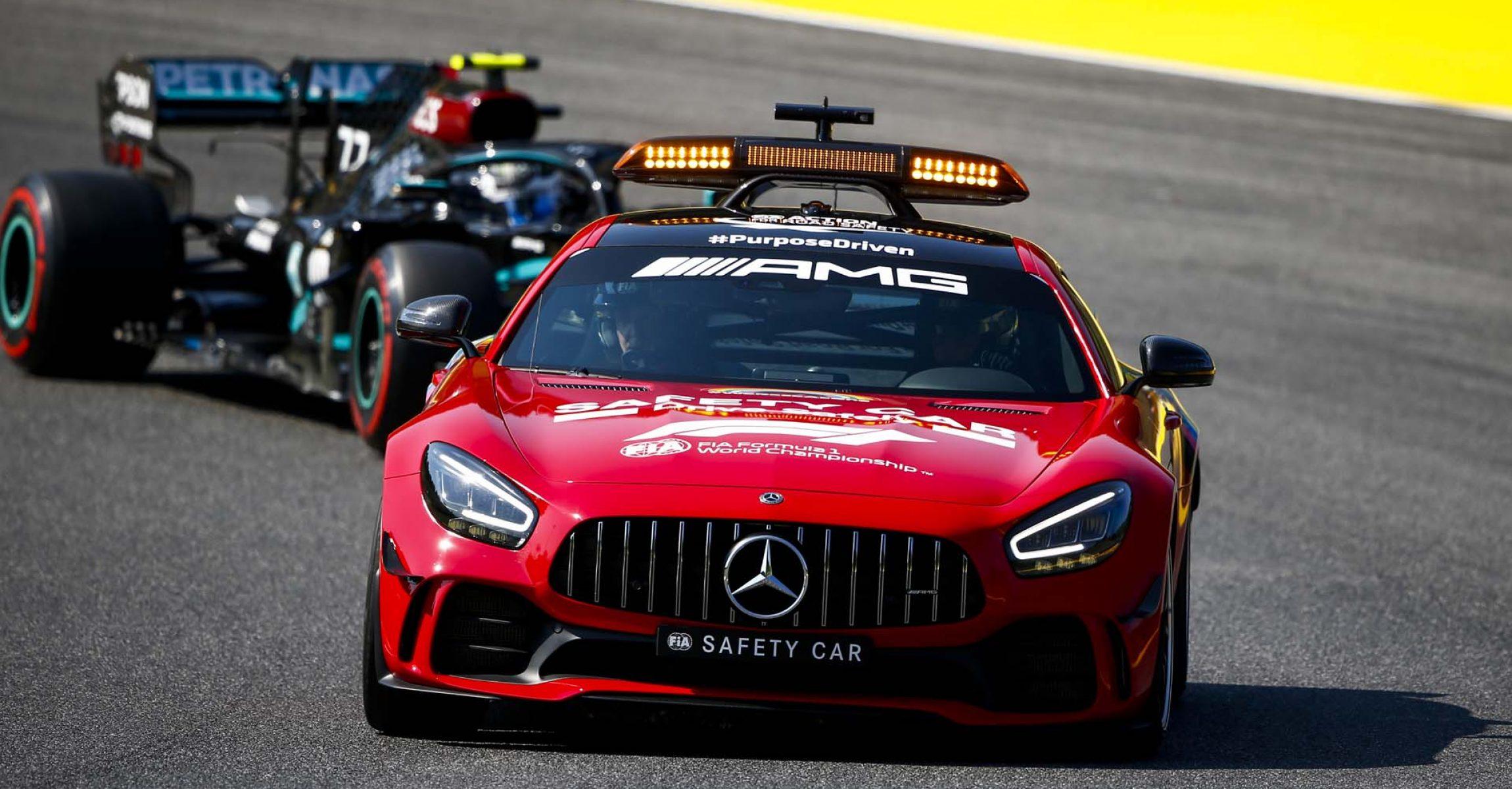 2020 Tuscan Grand Prix, Sunday - LAT Images Valtteri Bottas Mercedes Safety Car