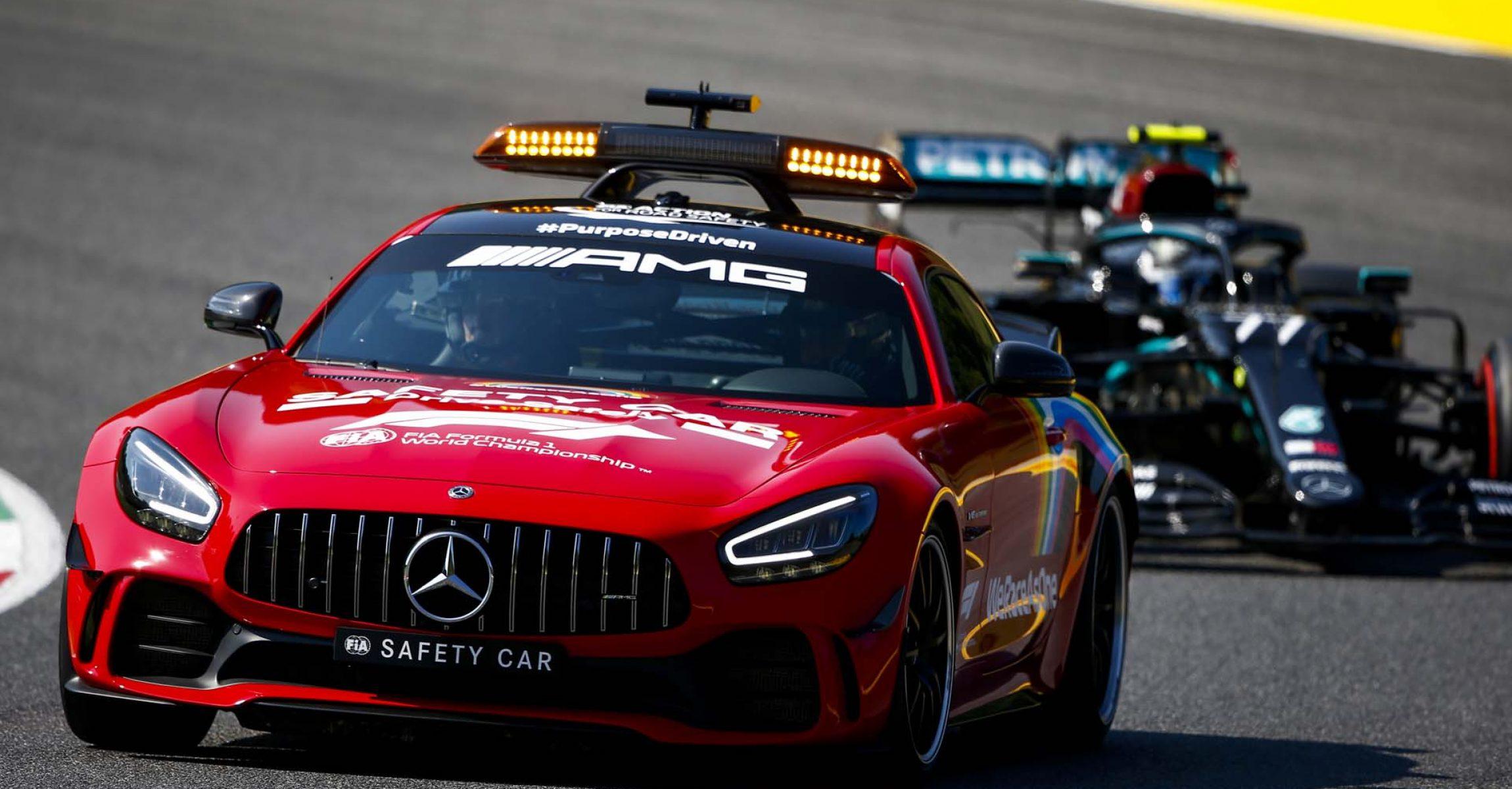 2020 Tuscan Grand Prix, Sunday - LAT Images Safety Car Mercedes Valtteri Bottas