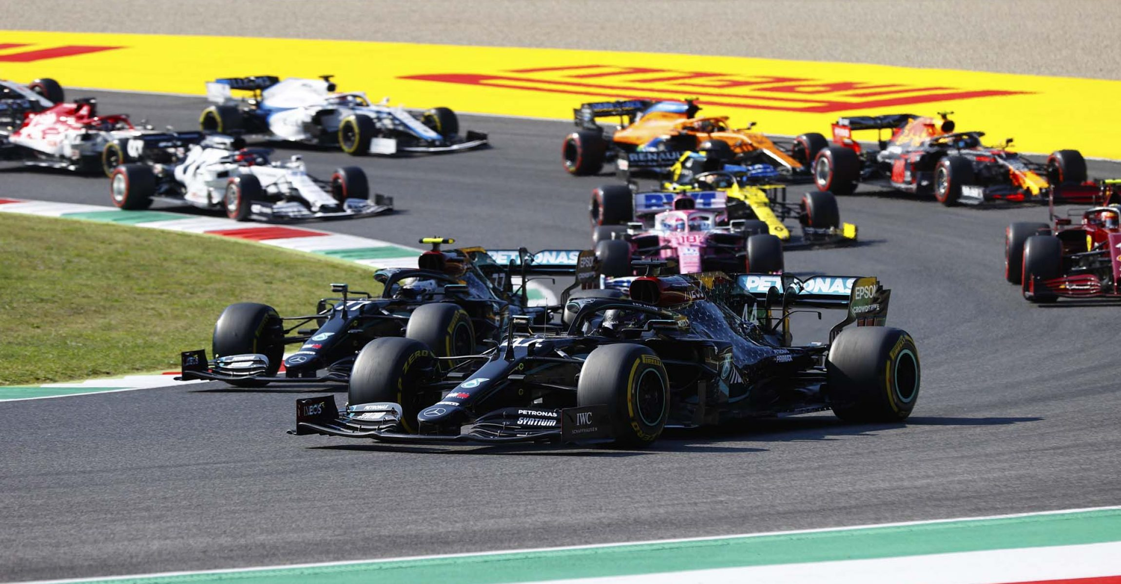 2020 Tuscan Grand Prix, Sunday - LAT Images start Mercedes