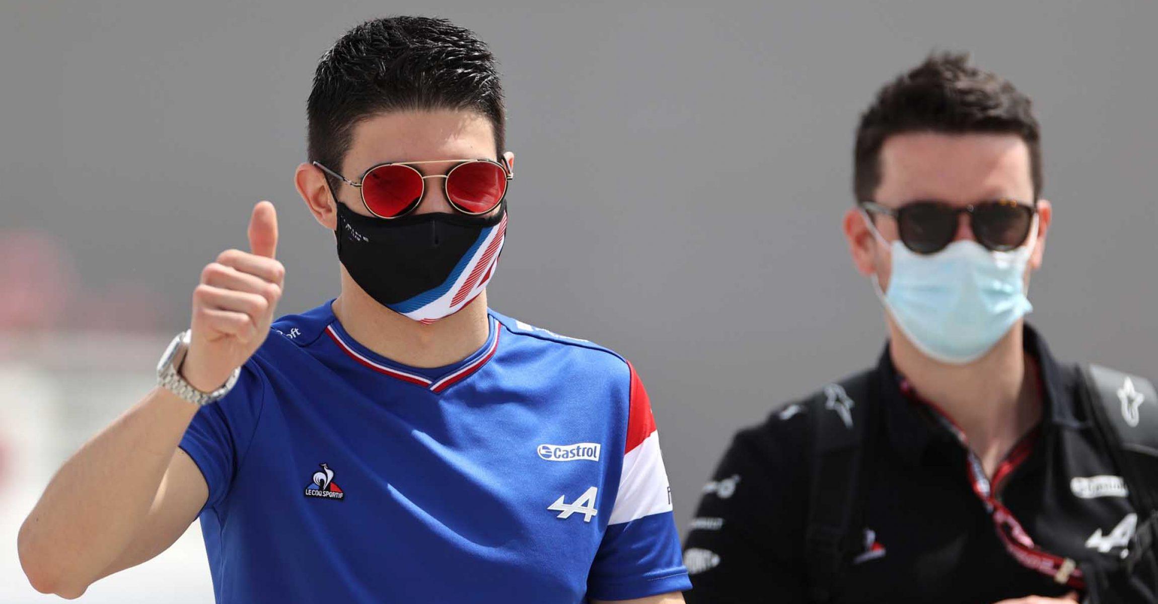 Esteban Ocon (FRA) Alpine F1 Team. Bahrain Grand Prix, Thursday 25th March 2021. Sakhir, Bahrain.