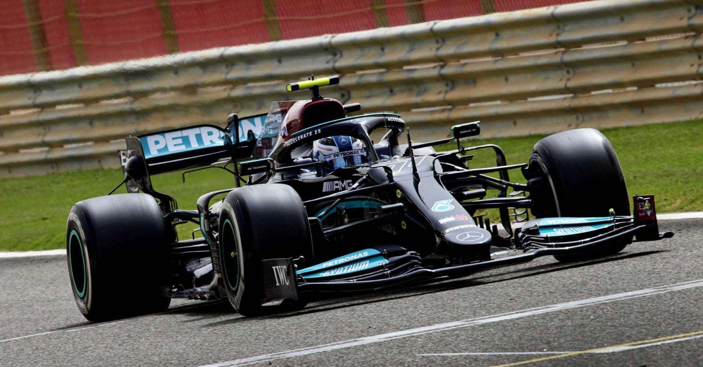 2021 Bahrain Pre-Season Test, Day 1 - Steve Etherington Valtteri Bottas Mercedes
