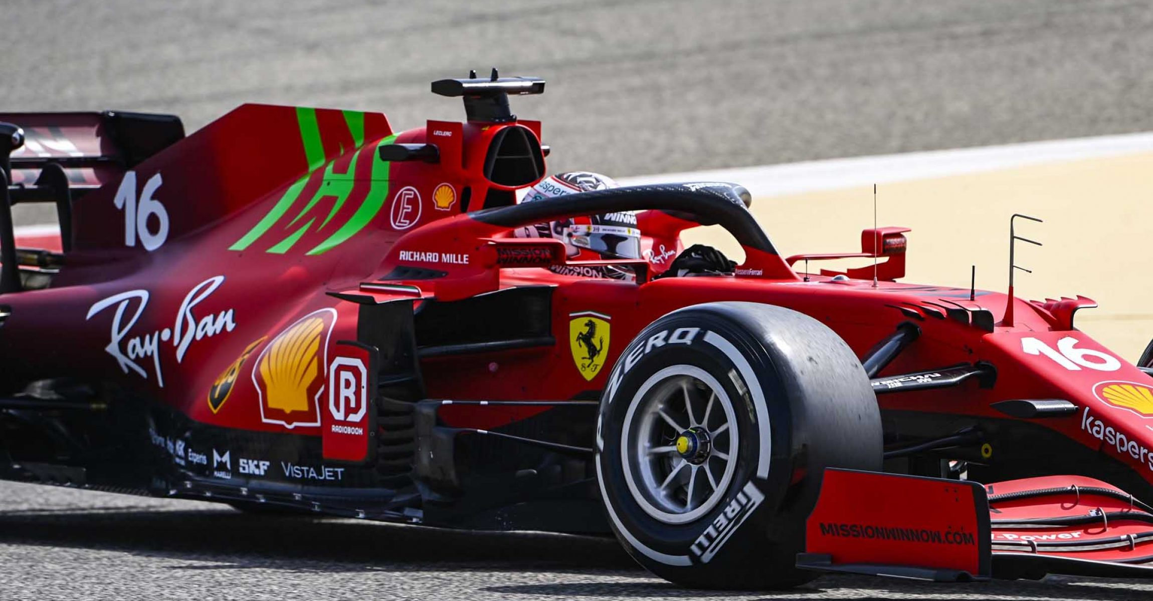 BAHRAIN INTERNATIONAL CIRCUIT, BAHRAIN - MARCH 12: Charles Leclerc, Ferrari SF21 during the Bahrain March testing at Bahrain International Circuit on Friday March 12, 2021 in Sakhir, Bahrain. (Photo by Mark Sutton / LAT Images)