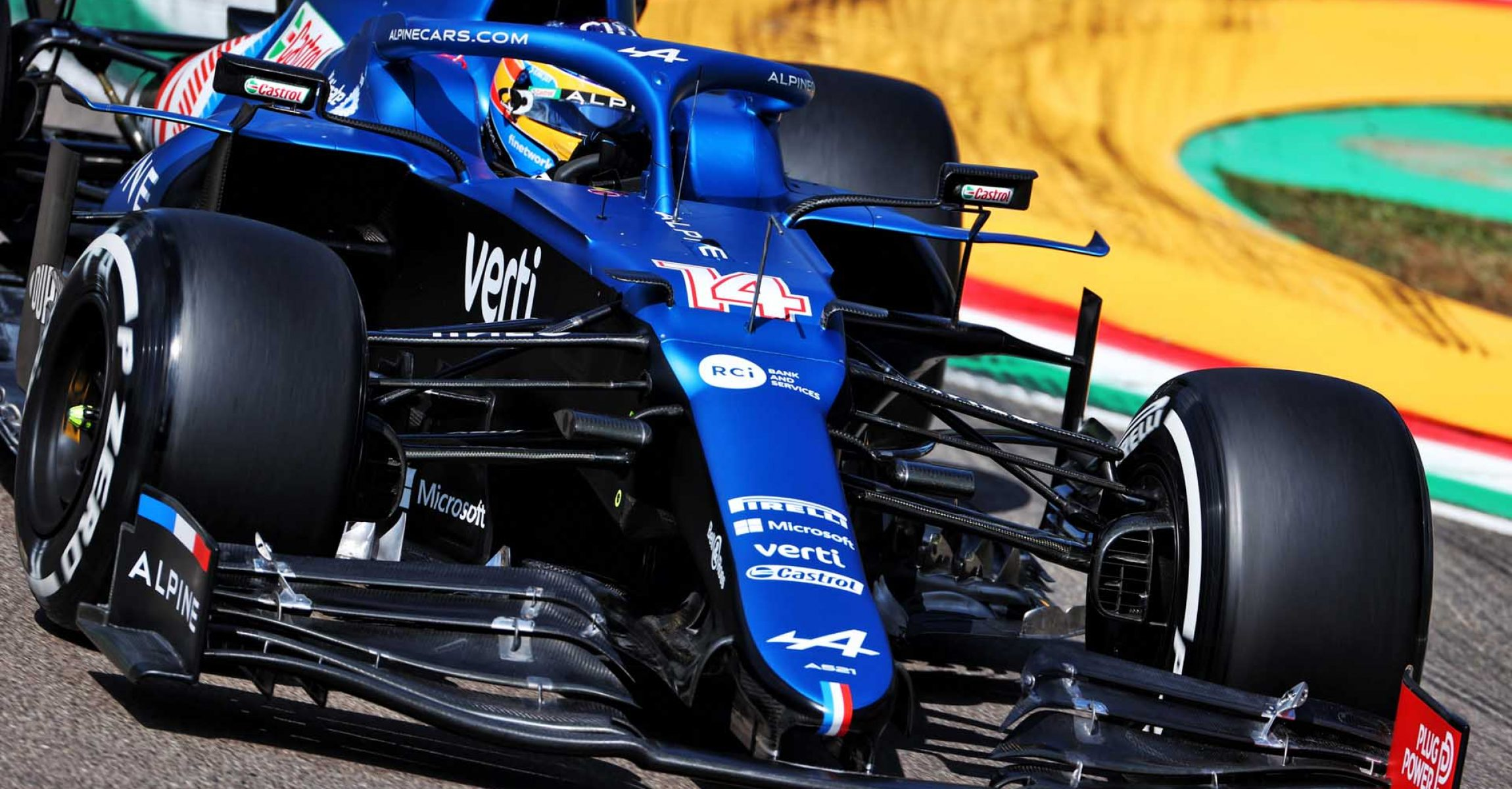 Fernando Alonso (ESP) Alpine F1 Team A521. Emilia Romagna Grand Prix, Friday 16th April 2021. Imola, Italy.