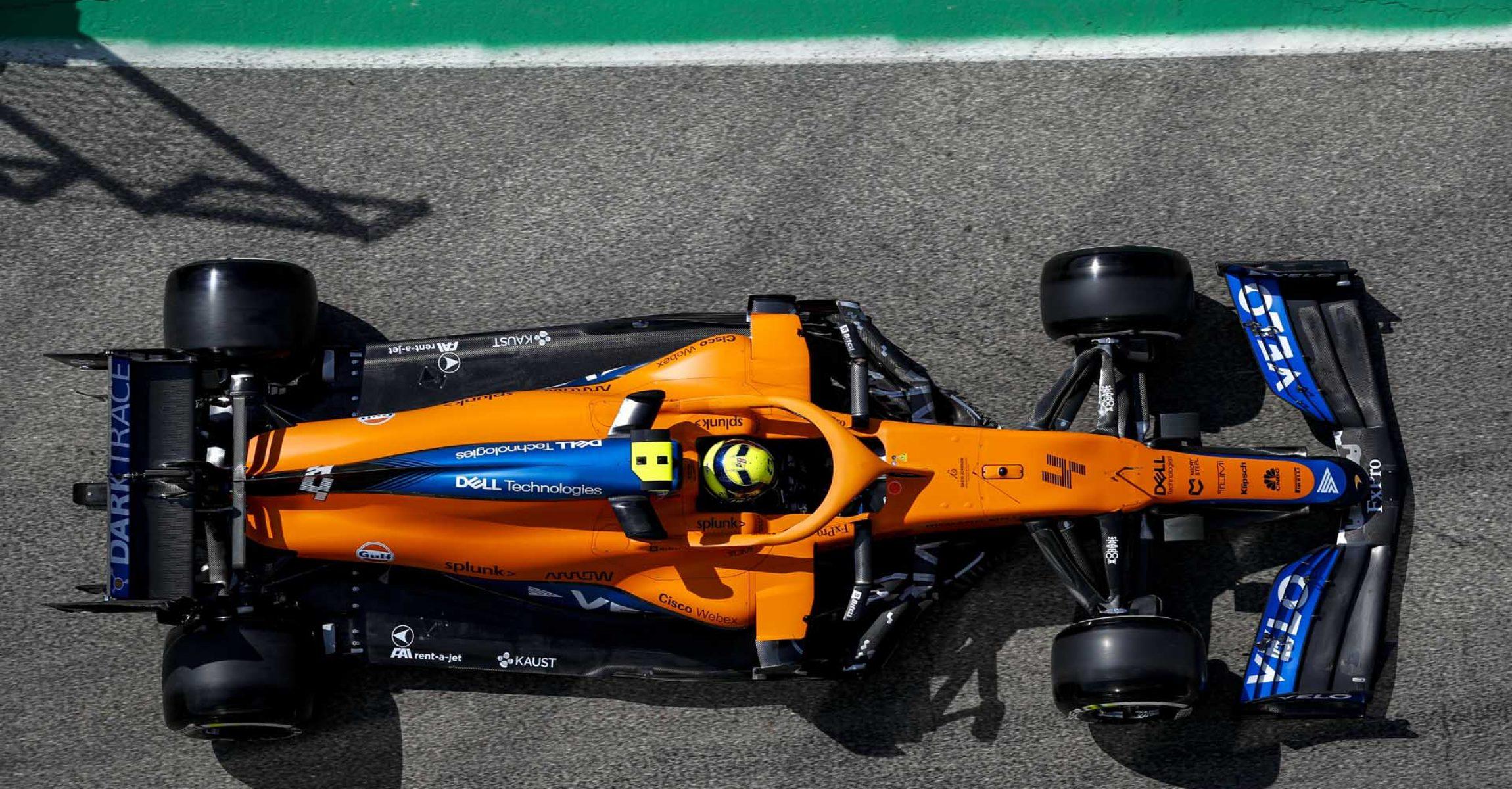 Lando Norris, McLaren MCL35M, car from above