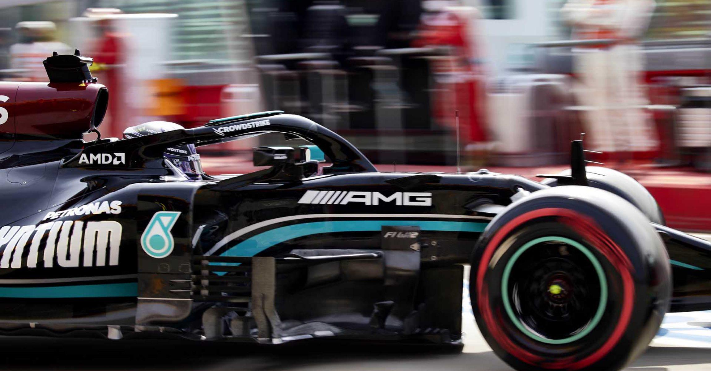 2021 Emilia Romagna Grand Prix, Saturday - Steve Etherington Lewis Hamilton Mercedes