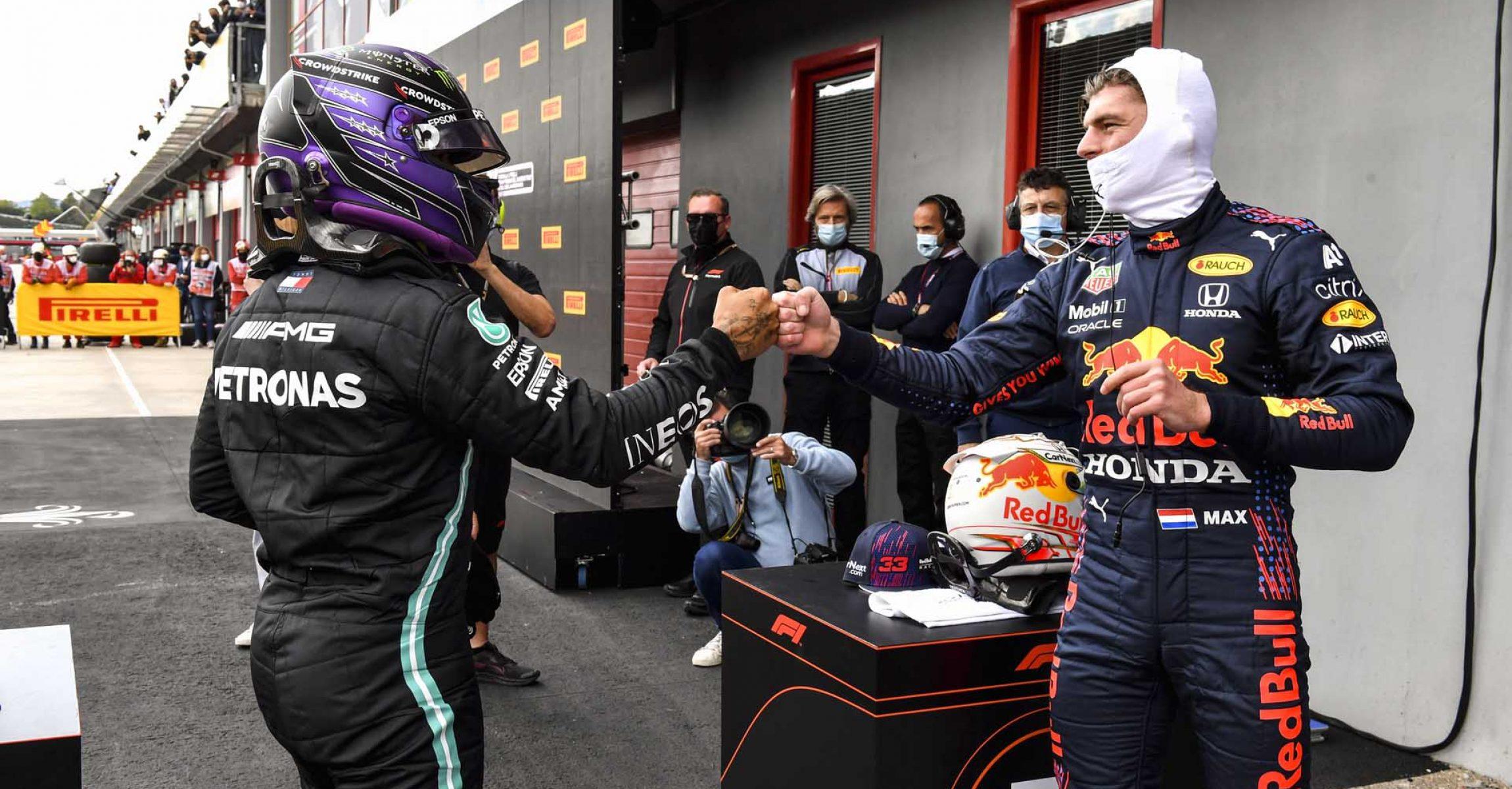 2021 Emilia Romagna Grand Prix, Saturday - LAT Images Lewis Hamilton Mercedes Max Verstappen