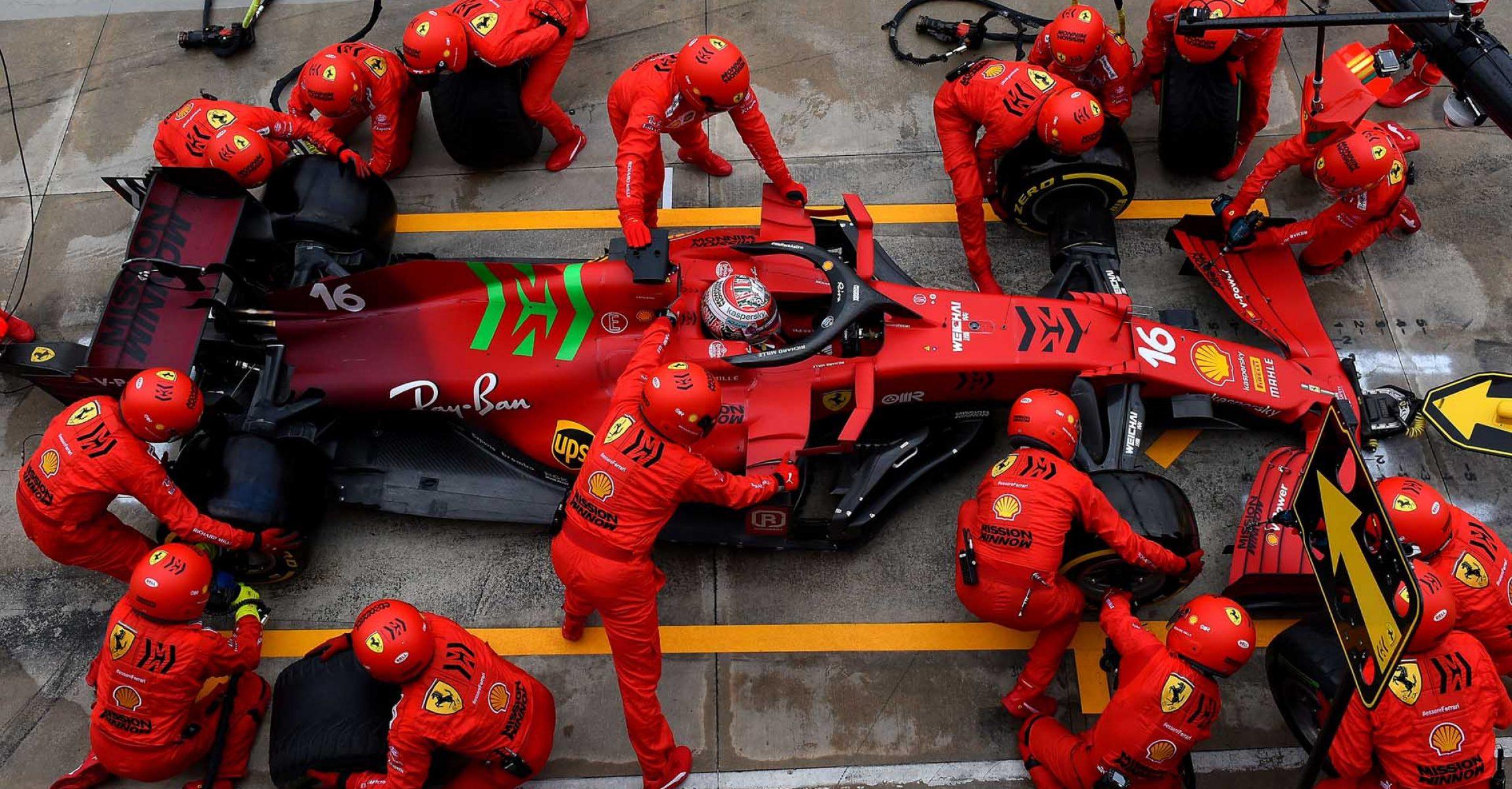GP DELL'EMILIA ROMAGNA  F1/2021 - DOMENICA 18/04/2021 credit: @Scuderia Ferrari Press Office Charles Leclerc pitstop