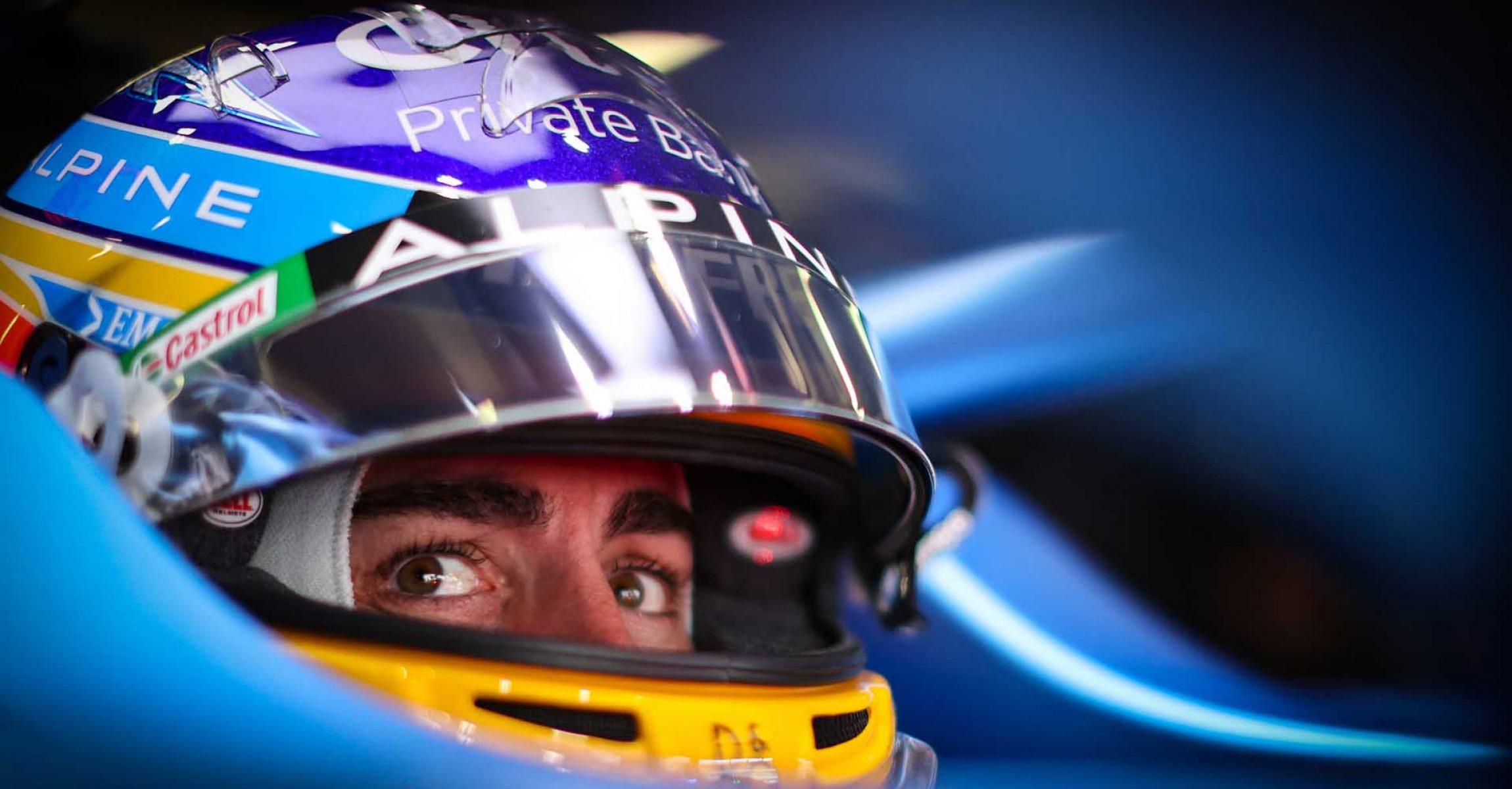 Fernando Alonso (ESP) Alpine F1 Team A521. Portuguese Grand Prix, Saturday 1st May 2021. Portimao, Portugal.