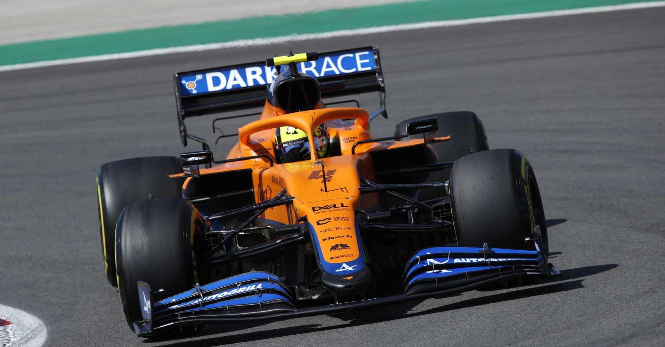 Lando Norris, McLaren MCL35M front on