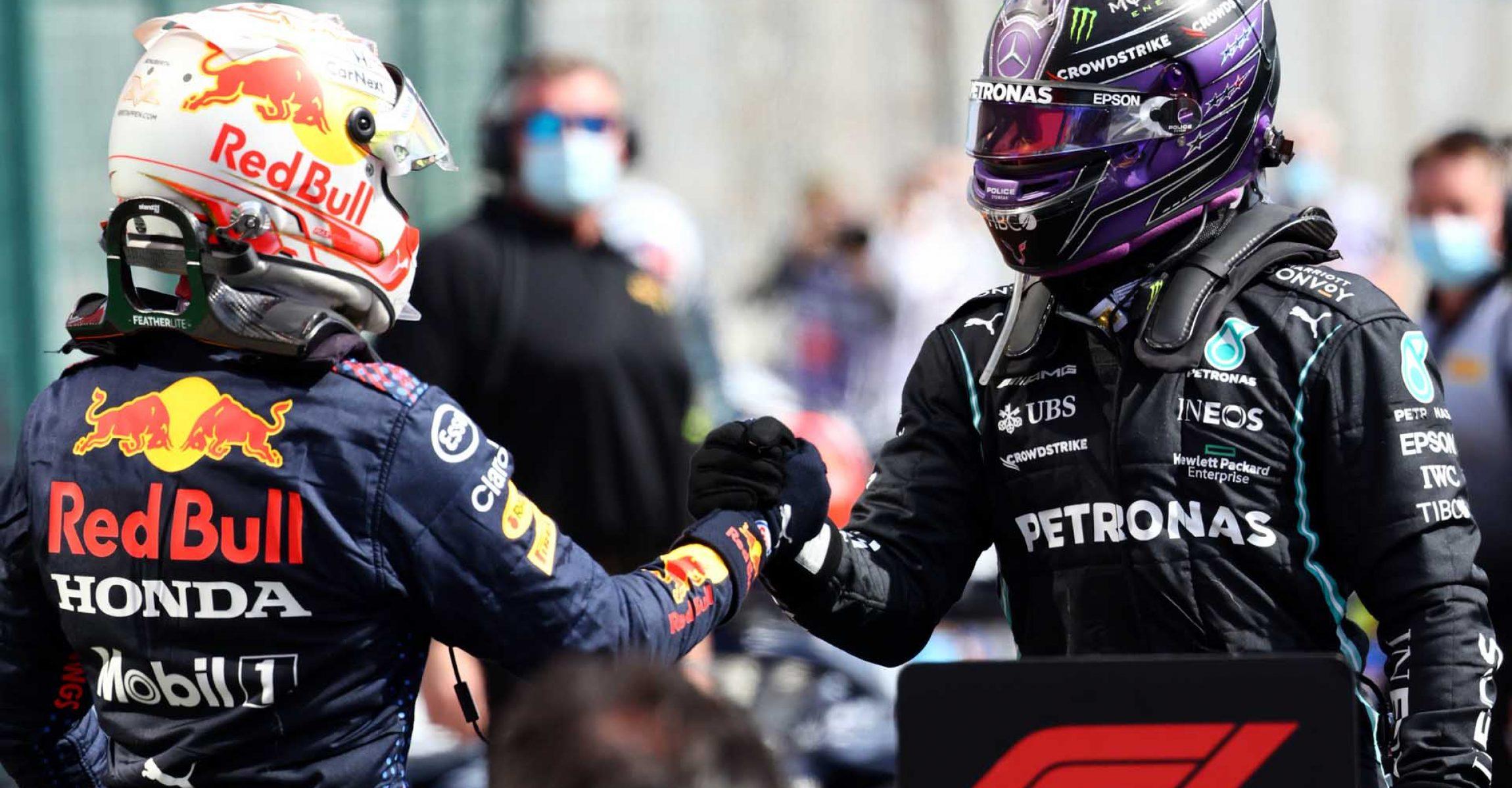 2021 Portuguese Grand Prix, Sunday - Steve Etherington Max Verstappen Lewis Hamilton