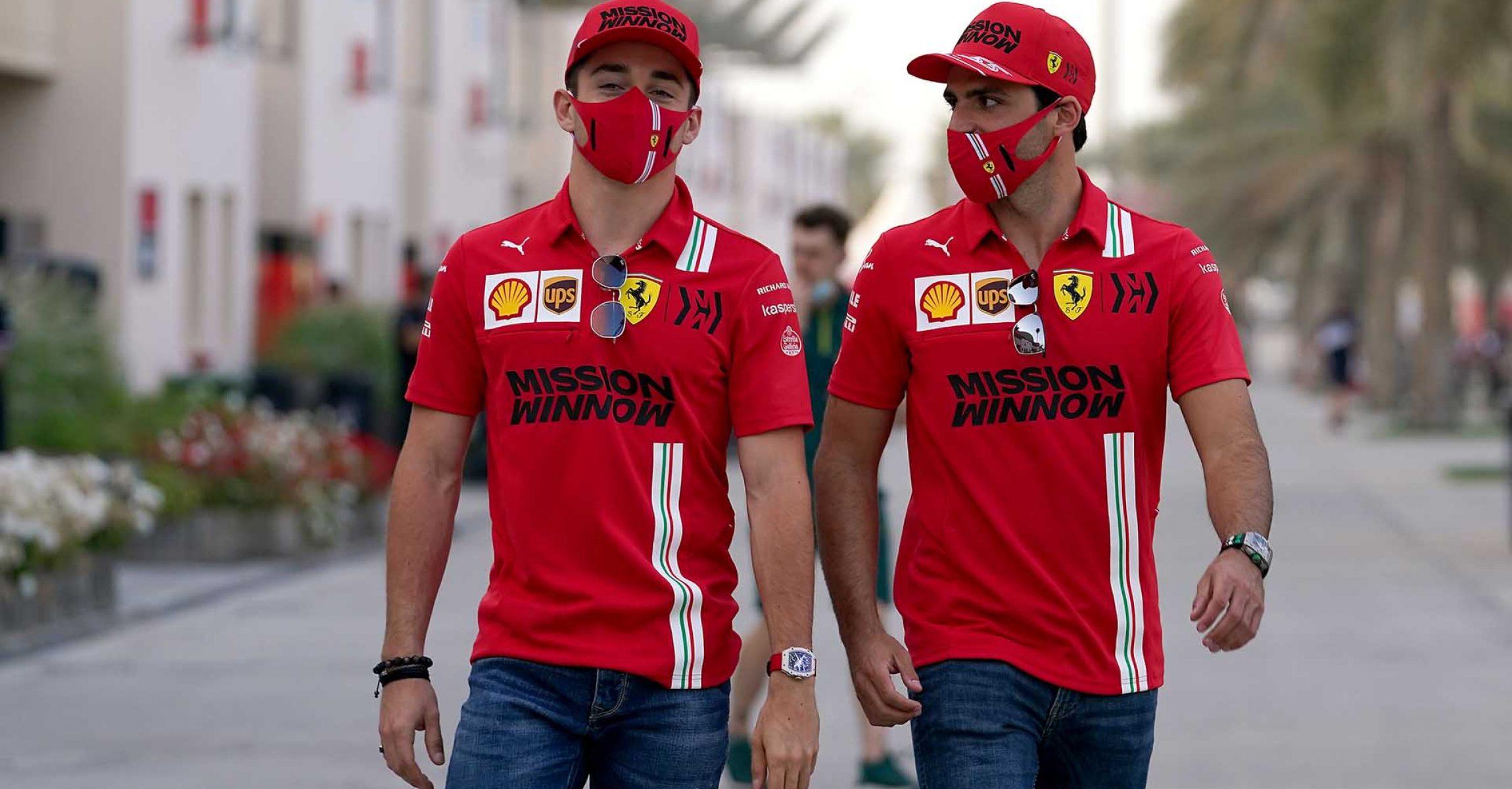 GP BAHRAIN  F1/2021 - GIOVEDÌ  25/03/2021   credit: @Scuderia Ferrari Press Office Charles Leclerc Carlos Sainz
