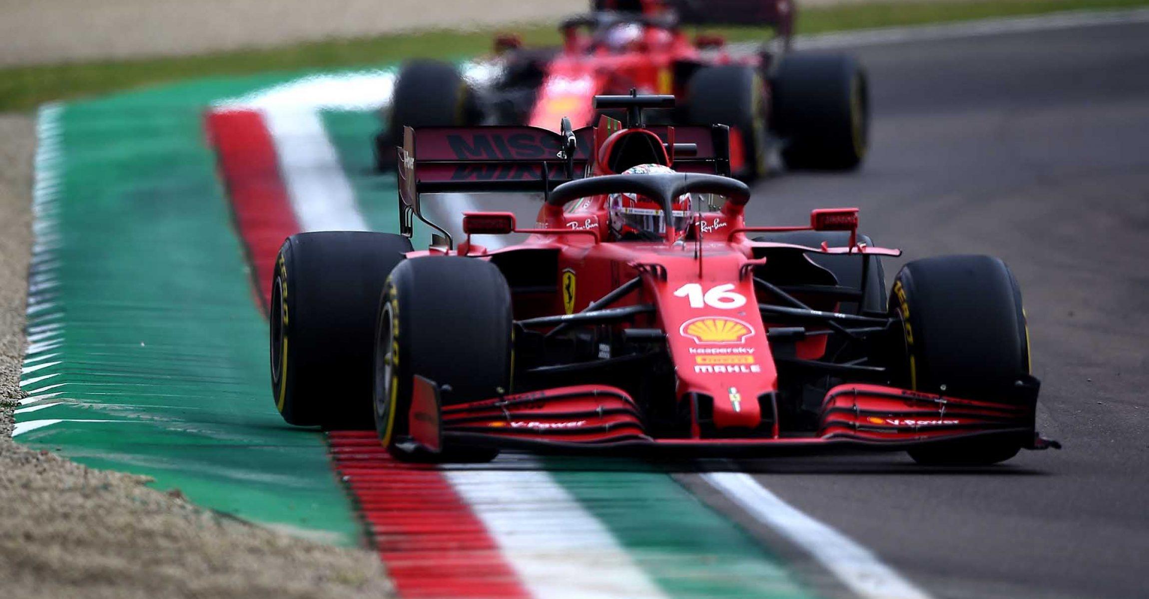 GP DELL'EMILIA ROMAGNA  F1/2021 - DOMENICA 18/04/2021 credit: @Scuderia Ferrari Press Office Charles Leclerc Carlos Sainz Ferrari