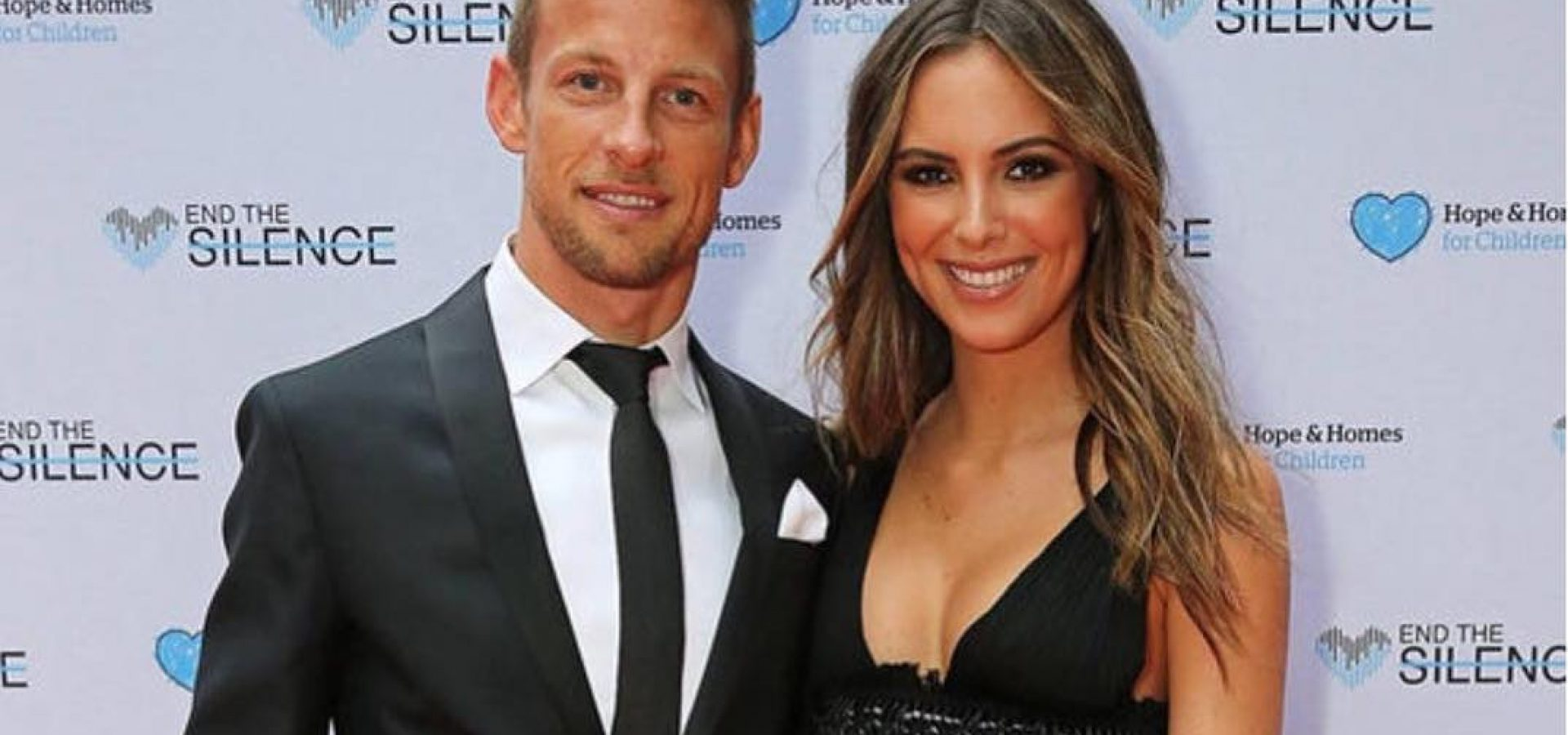 Jenson Button and his girlfriend Brittney Ward