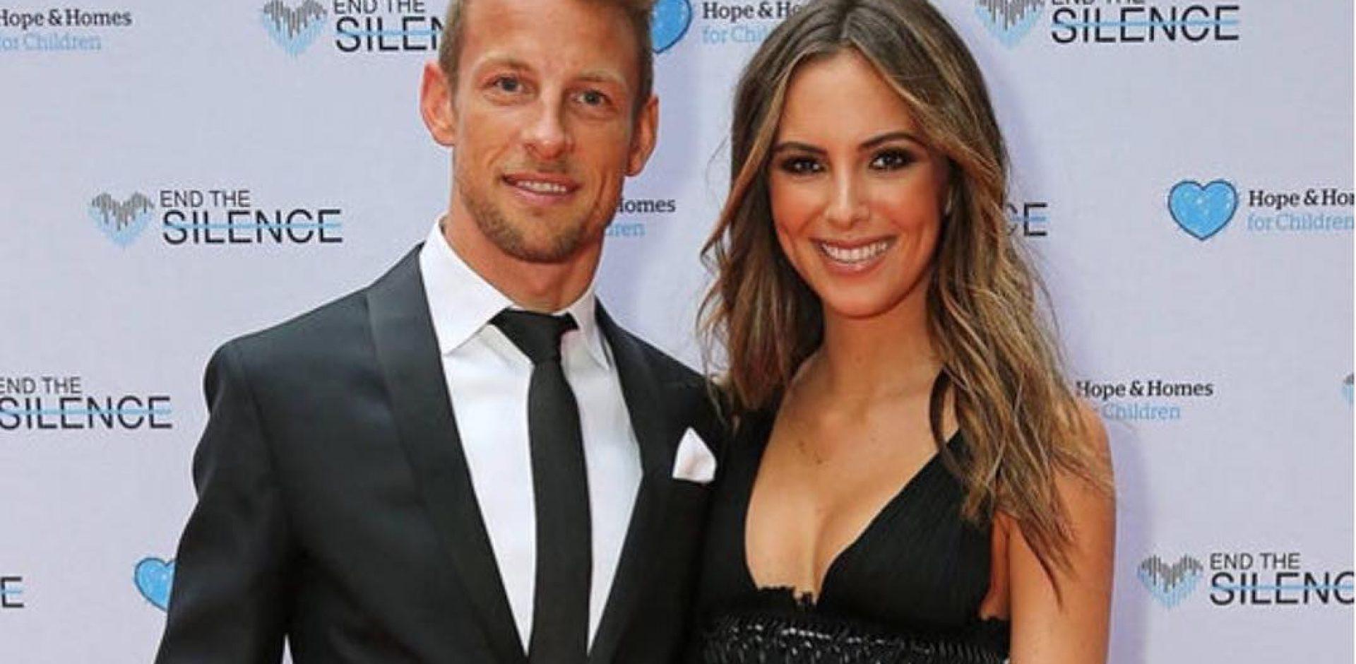 Jenson Button and his girlfriend Brittney Ward