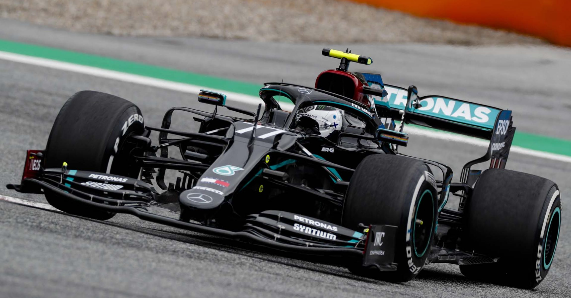 JULY 03: Valtteri Bottas, Mercedes F1 W11 EQ Performance during the Austrian GP on Friday July 03, 2020. (Photo by Steven Tee / LAT Images)