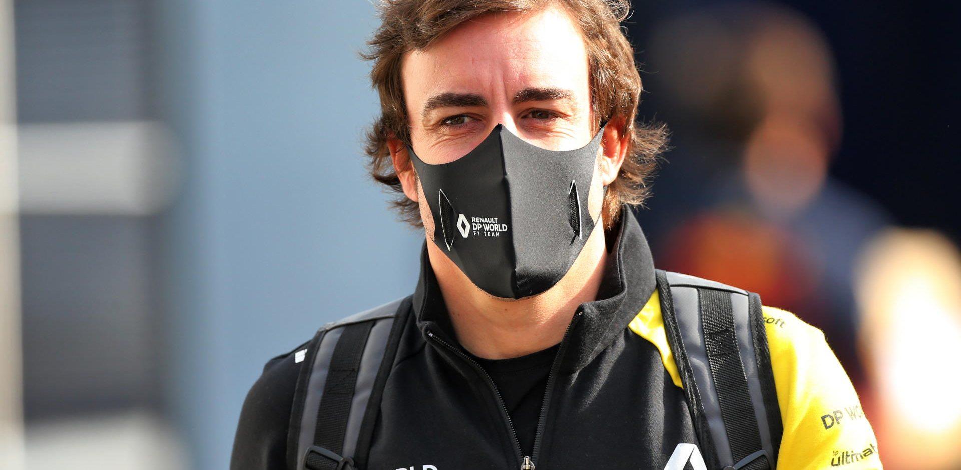 Fernando Alonso, Renault, Imola