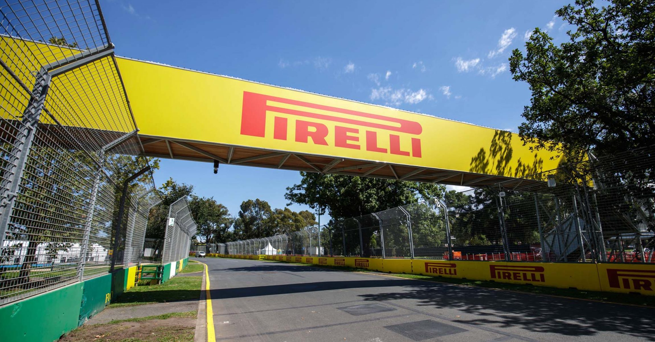 MARCH 11: Pirelli branding around the track during the Australian GP on March 11, 2020. (Photo by Zak Mauger / LAT Images)