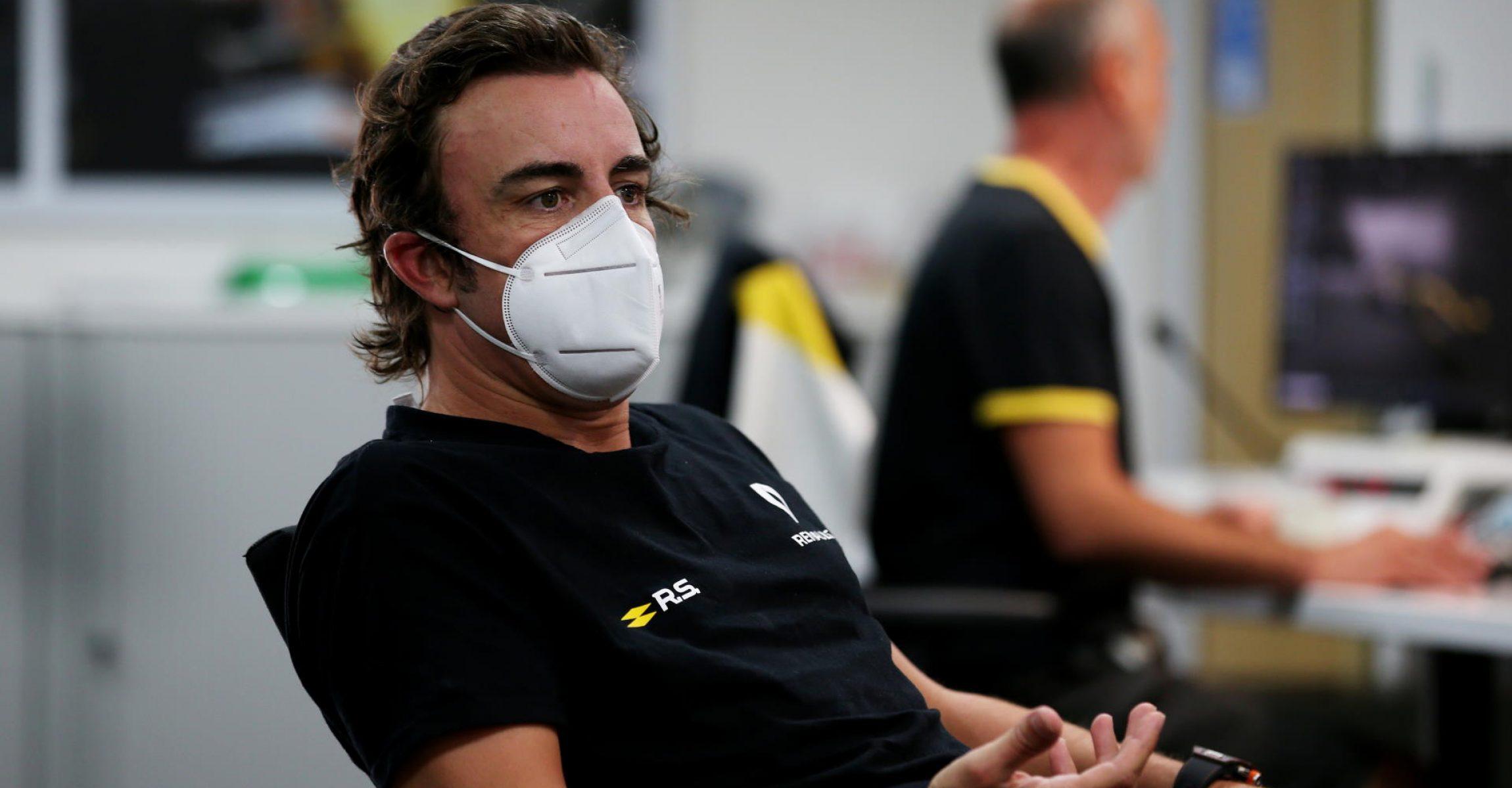 Fernando Alonso, Renault factory visit, Enstone, 2020 September