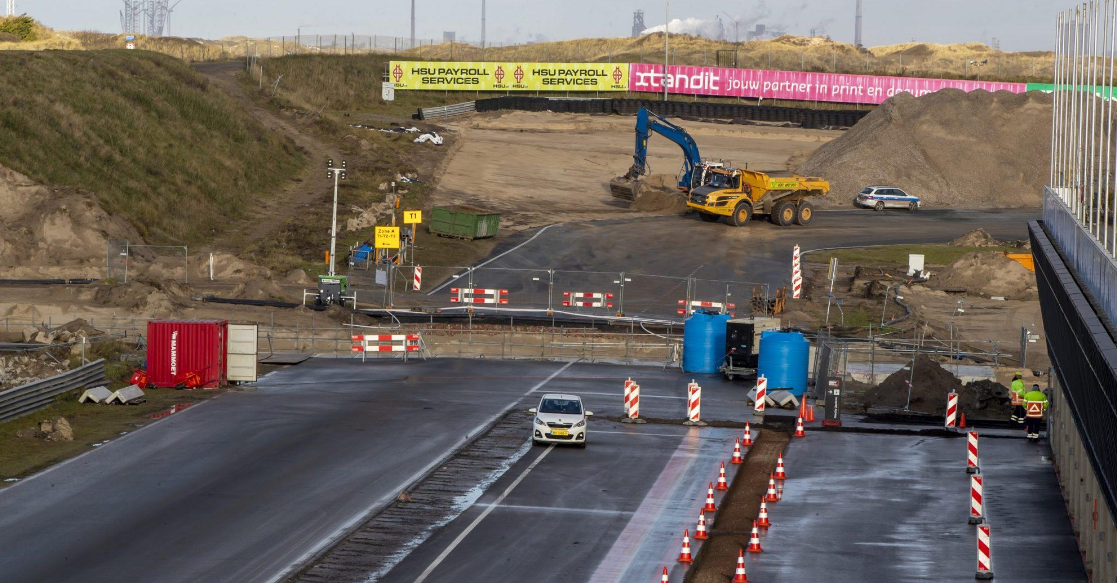 Zandvoort track construction