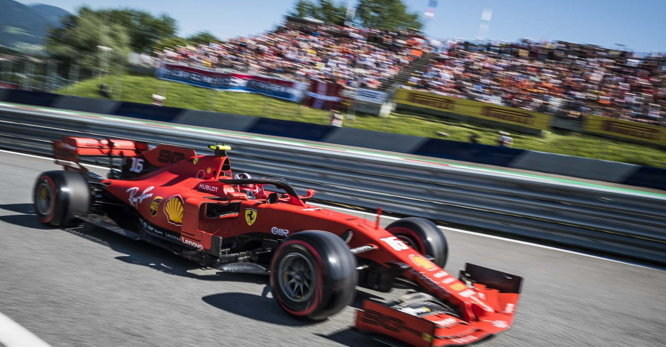 Charles Leclerc races at the FIA Formula One World Championship 2019 in Spielberg, Austria on June 29, 2019 // Philip Platzer/Red Bull Content Pool // AP-1ZSYE1RKS1W11 // Usage for editorial use only // Please go to www.redbullcontentpool.com for further information. //