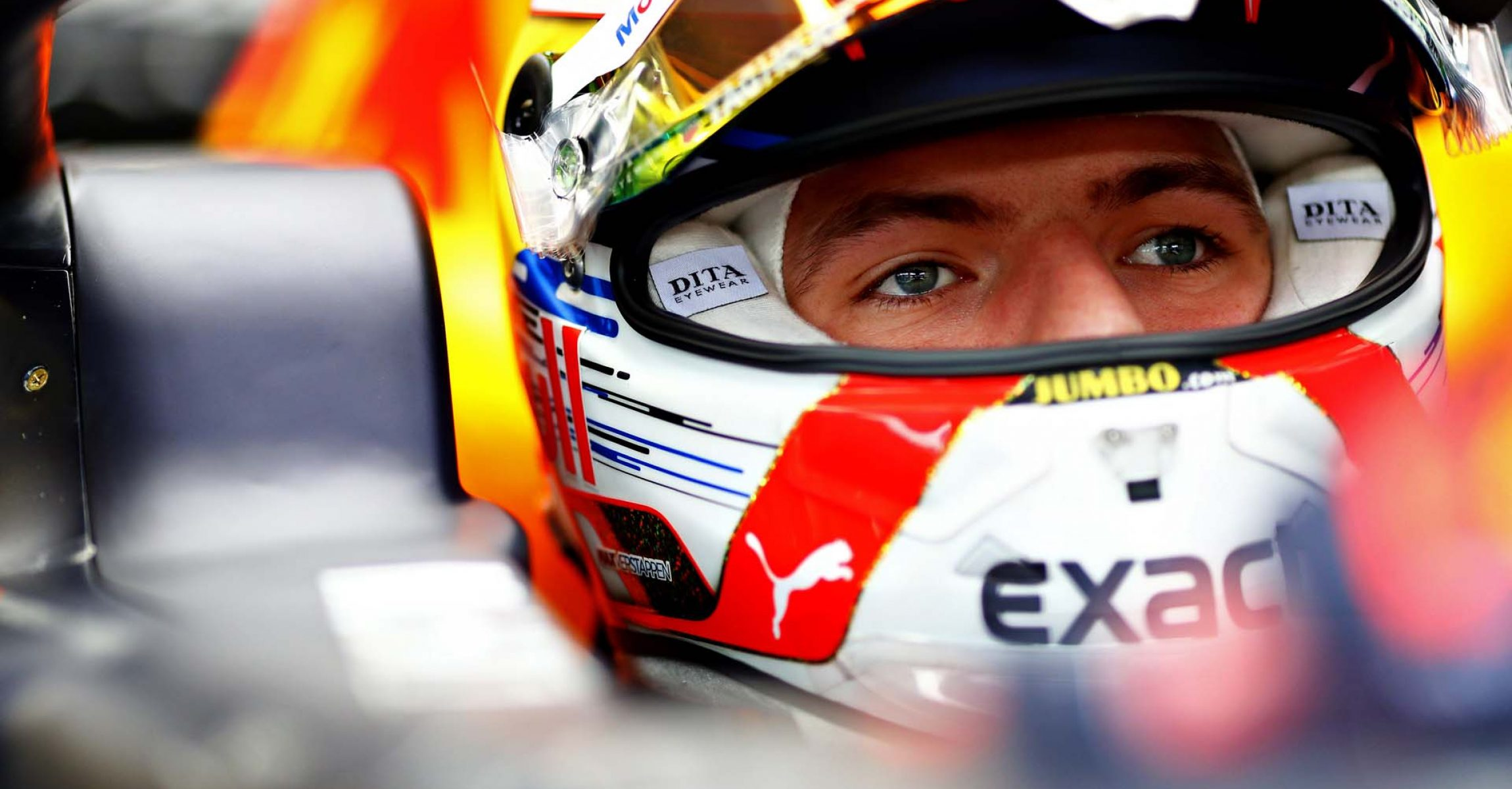 BUDAPEST, HUNGARY - AUGUST 02: Max Verstappen of Netherlands and Red Bull Racing prepares to drive in the garage during practice for the F1 Grand Prix of Hungary at Hungaroring on August 02, 2019 in Budapest, Hungary. (Photo by Mark Thompson/Getty Images) // Getty Images / Red Bull Content Pool  // AP-214V5MEGH2111 // Usage for editorial use only // Please go to www.redbullcontentpool.com for further information. //