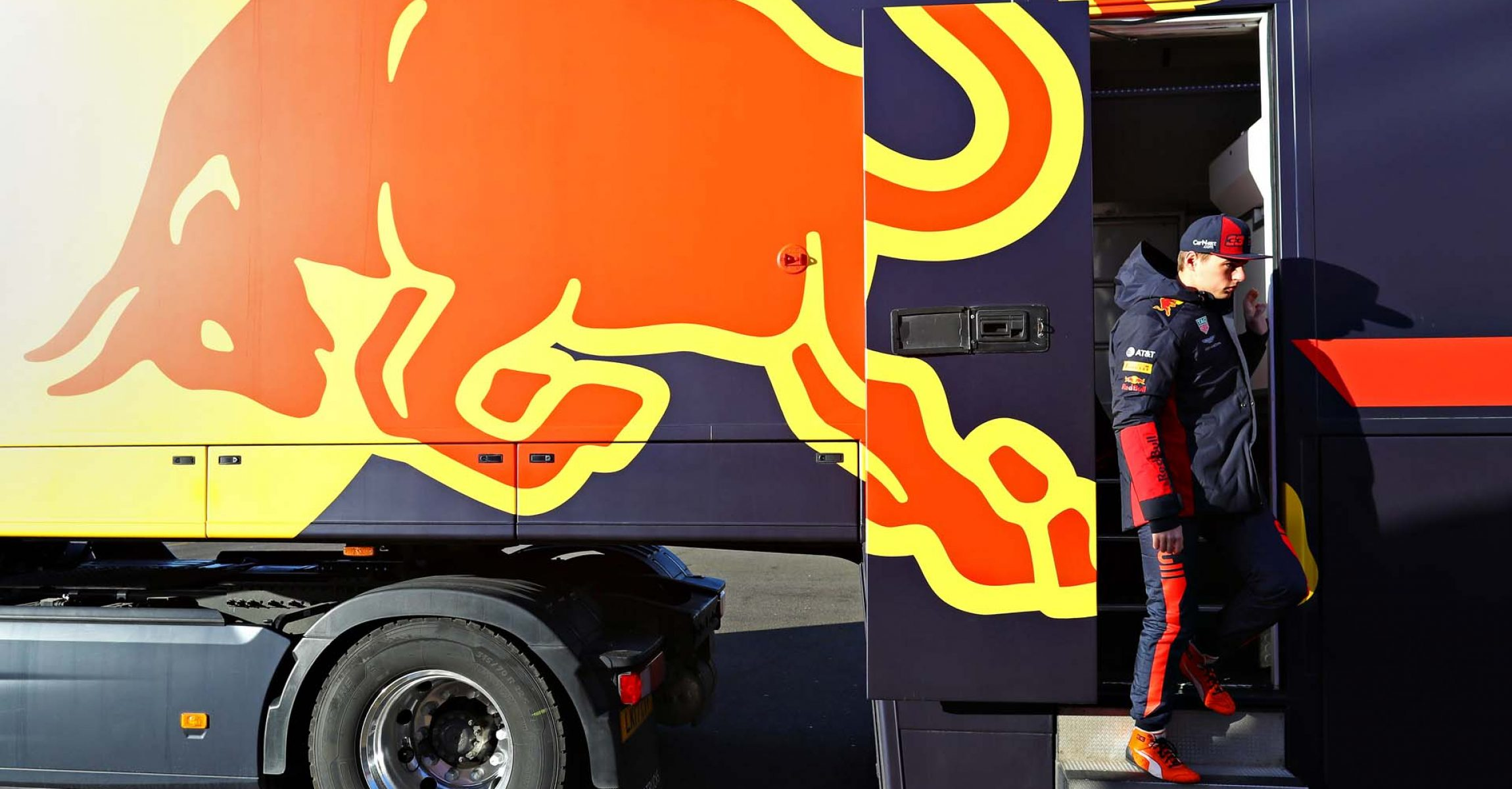 NORTHAMPTON, ENGLAND - FEBRUARY 12: Max Verstappen of Netherlands and Red Bull Racing prepares to drive during the Red Bull Racing RB16 launch at Silverstone Circuit on February 12, 2020 in Northampton, England. (Photo by Mark Thompson/Getty Images) // Getty Images / Red Bull Content Pool  // AP-233BPEVPD2111 // Usage for editorial use only //