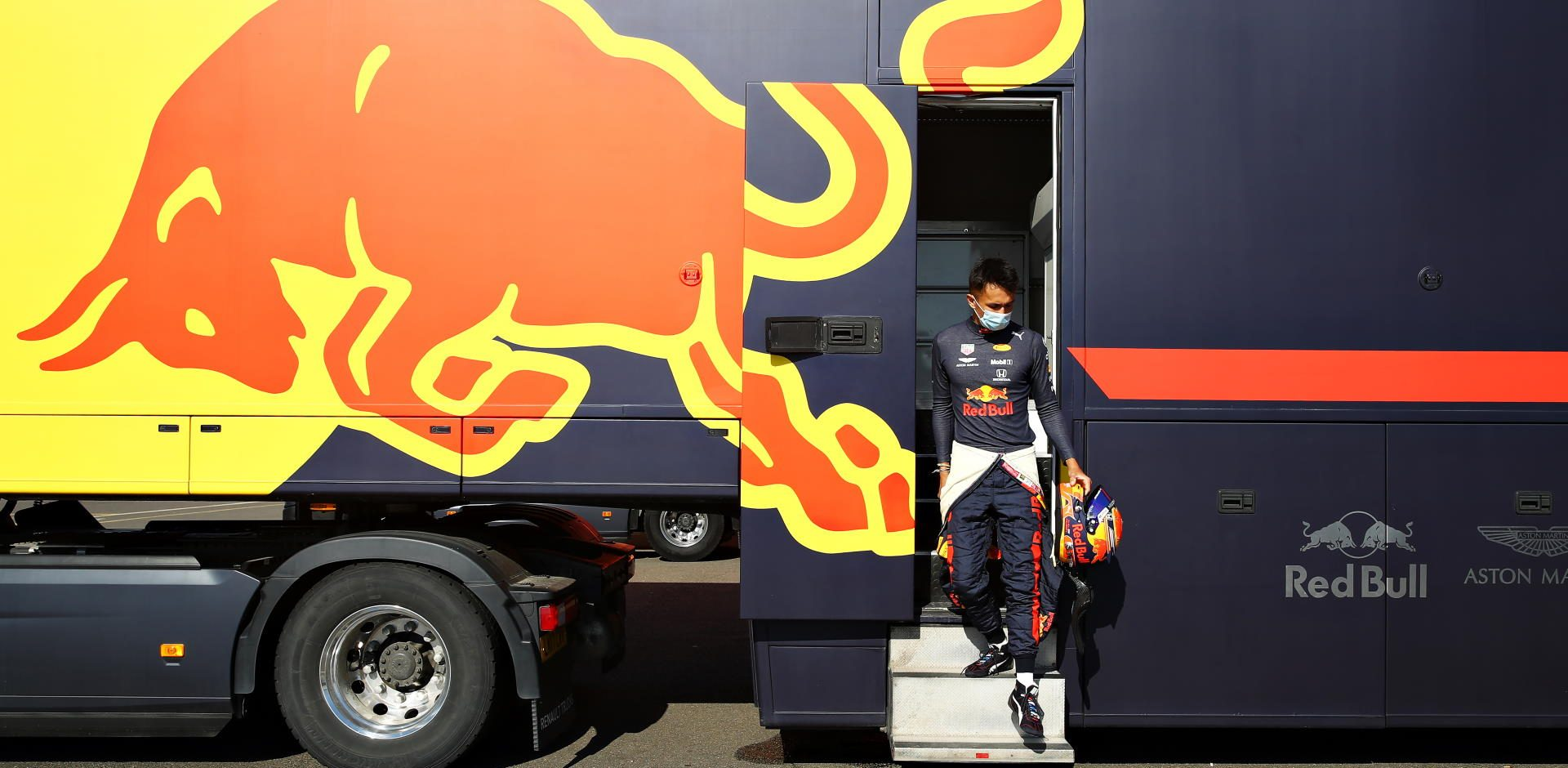 Alexander Albon, Red Bull, Silverstone, Filming Day