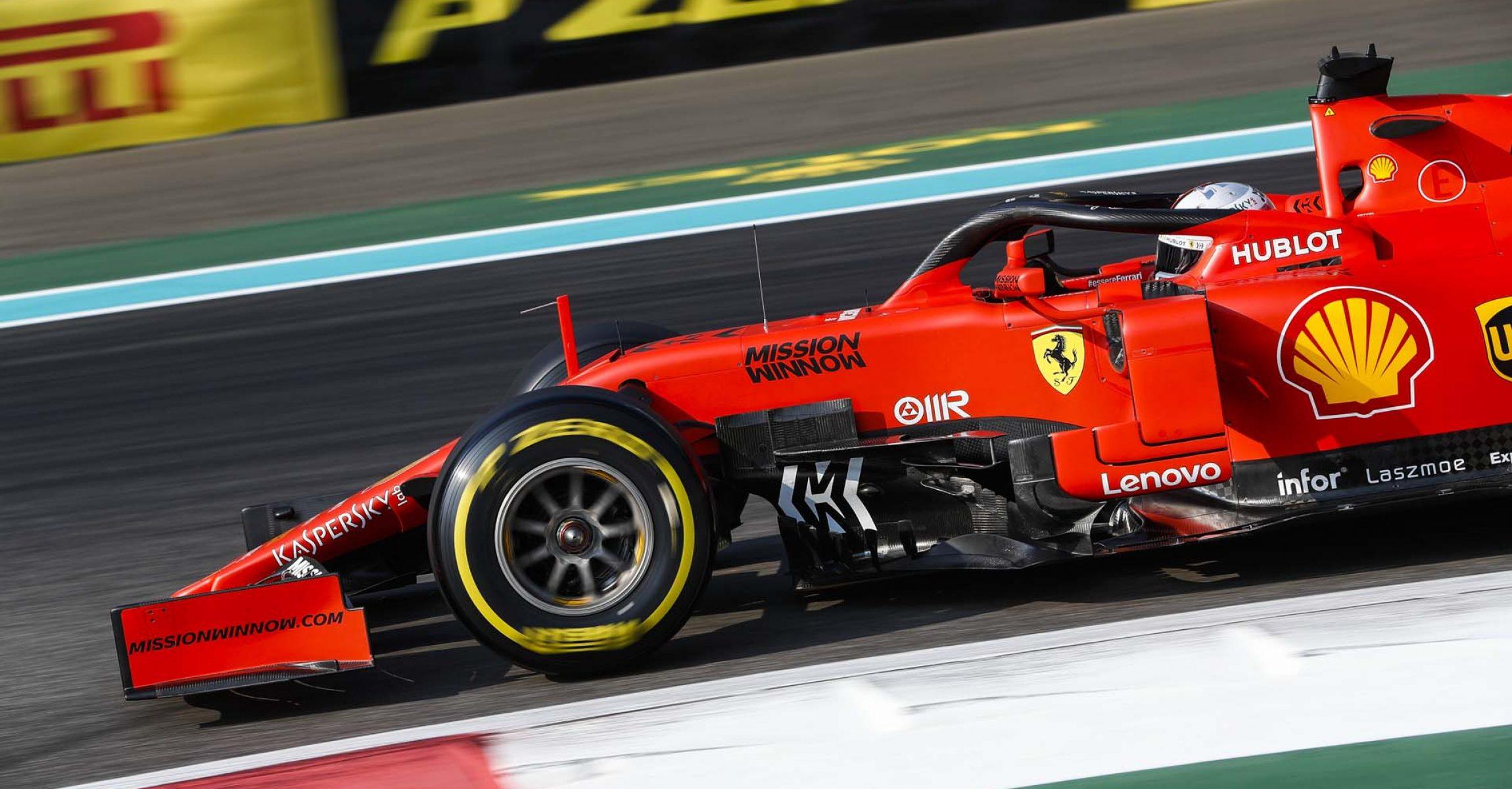 YAS MARINA CIRCUIT, UNITED ARAB EMIRATES - NOVEMBER 30: Sebastian Vettel, Ferrari SF90 during the Abu Dhabi GP at Yas Marina Circuit on November 30, 2019 in Yas Marina Circuit, United Arab Emirates. (Photo by Zak Mauger / LAT Images)