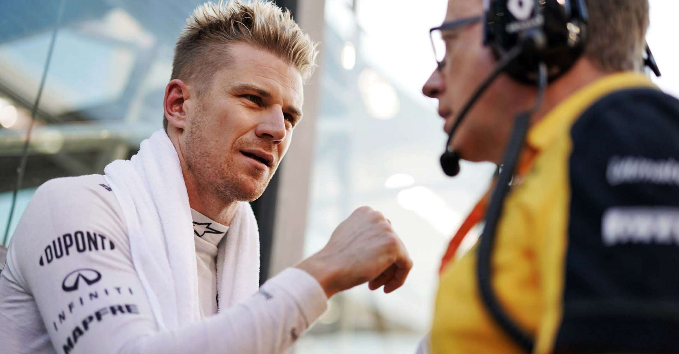 Nico Hulkenberg (GER) Renault F1 Team on the grid. Abu Dhabi Grand Prix, Sunday 1st December 2019. Yas Marina Circuit, Abu Dhabi, UAE.