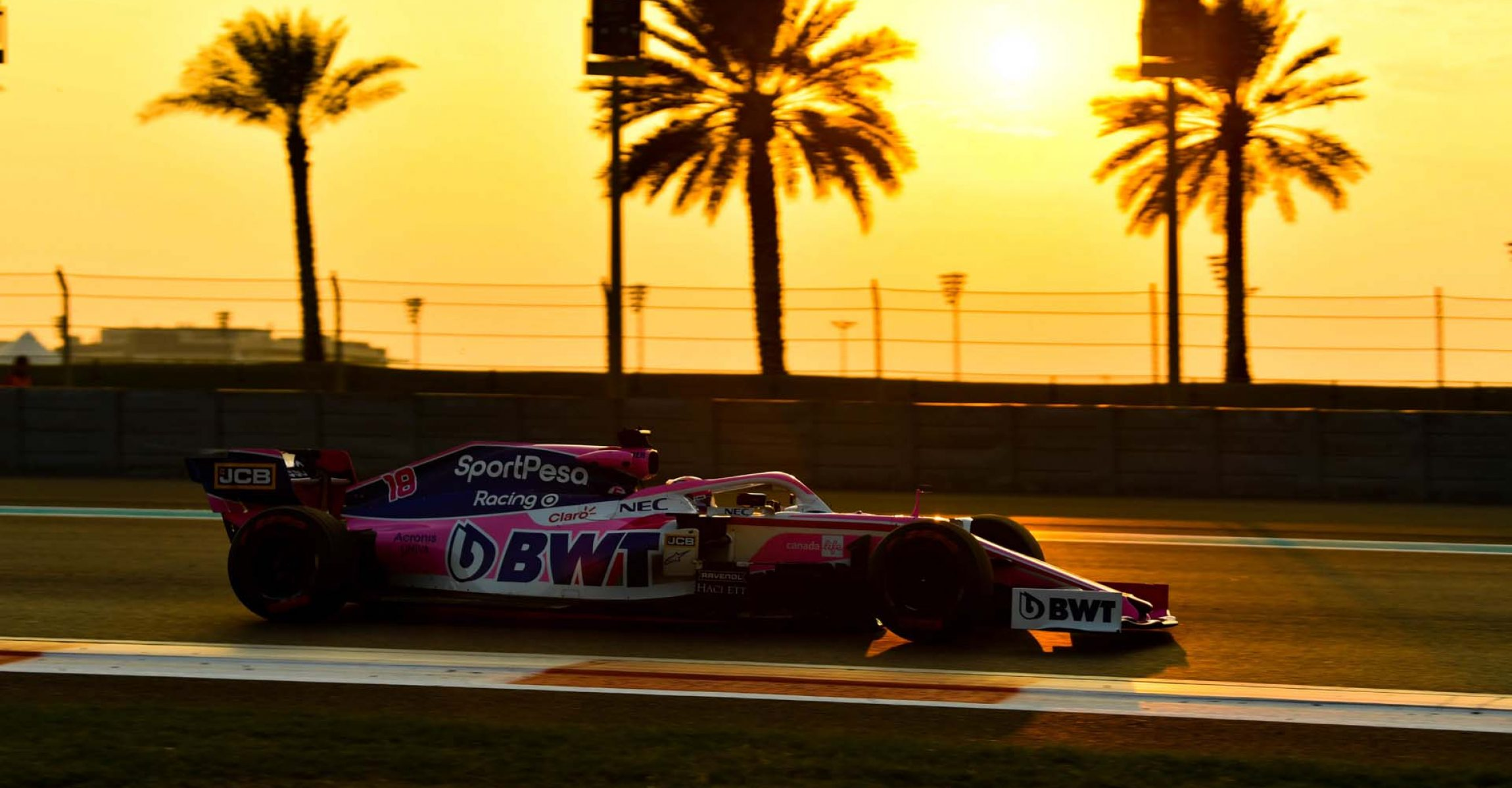YAS MARINA CIRCUIT, UNITED ARAB EMIRATES - DECEMBER 04: Lance Stroll, Racing Point RP19 during the Abu Dhabi December Testing at Yas Marina Circuit on December 04, 2019 in Yas Marina Circuit, United Arab Emirates. (Photo by Mark Sutton / LAT Images)