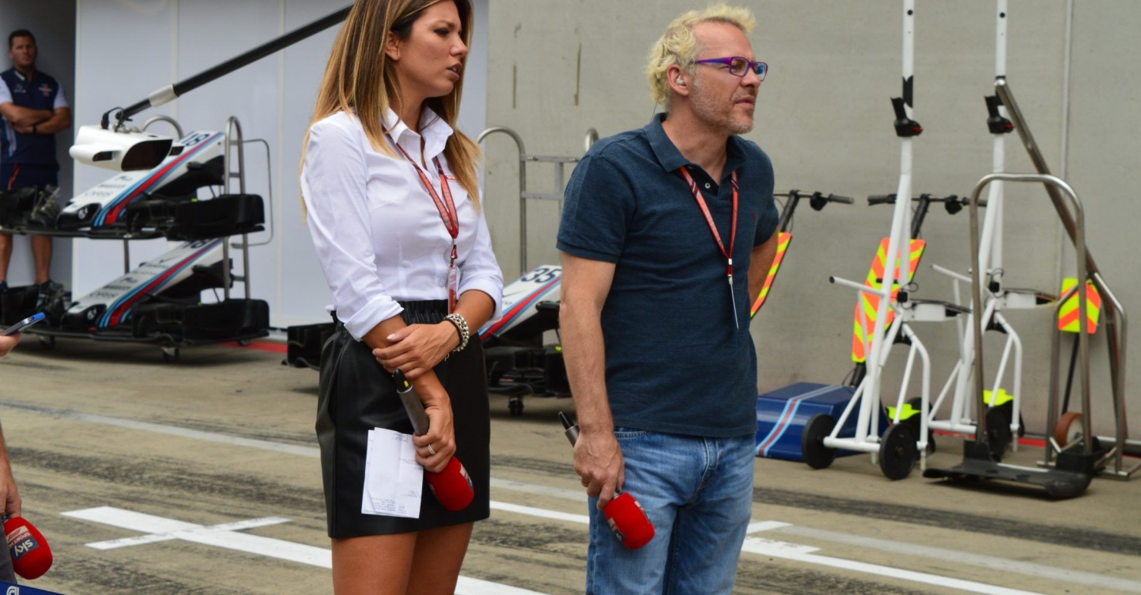 Federica Masolin and Jacques Villeneuve, Sky Sports, Austrian GP 2018