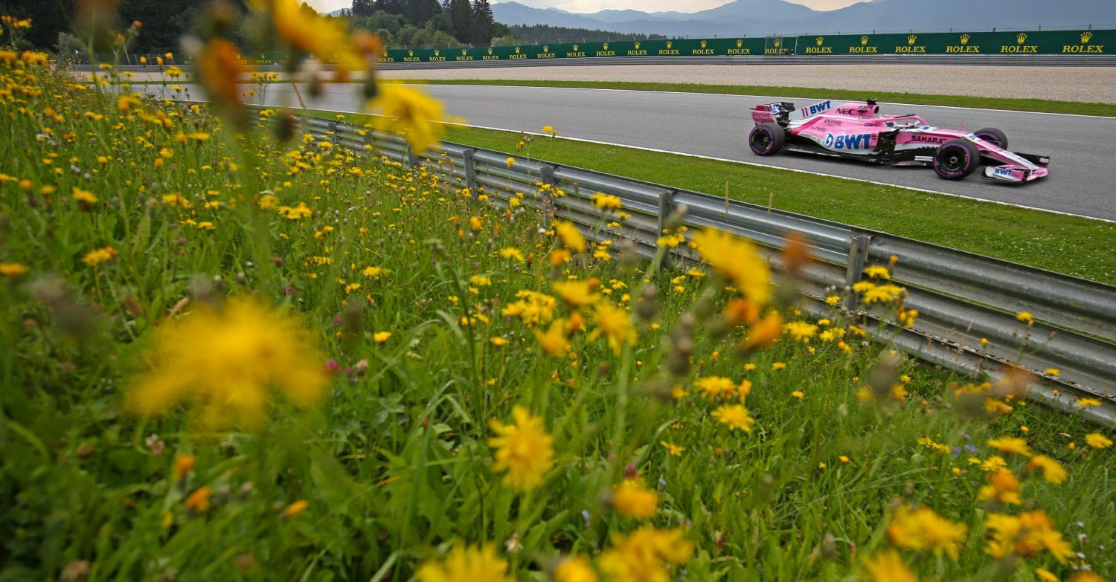 Sergio Perez (MEX) Sahara Force India F1 VJM11. Austrian Grand Prix, Saturday 30th June 2018. Spielberg, Austria.