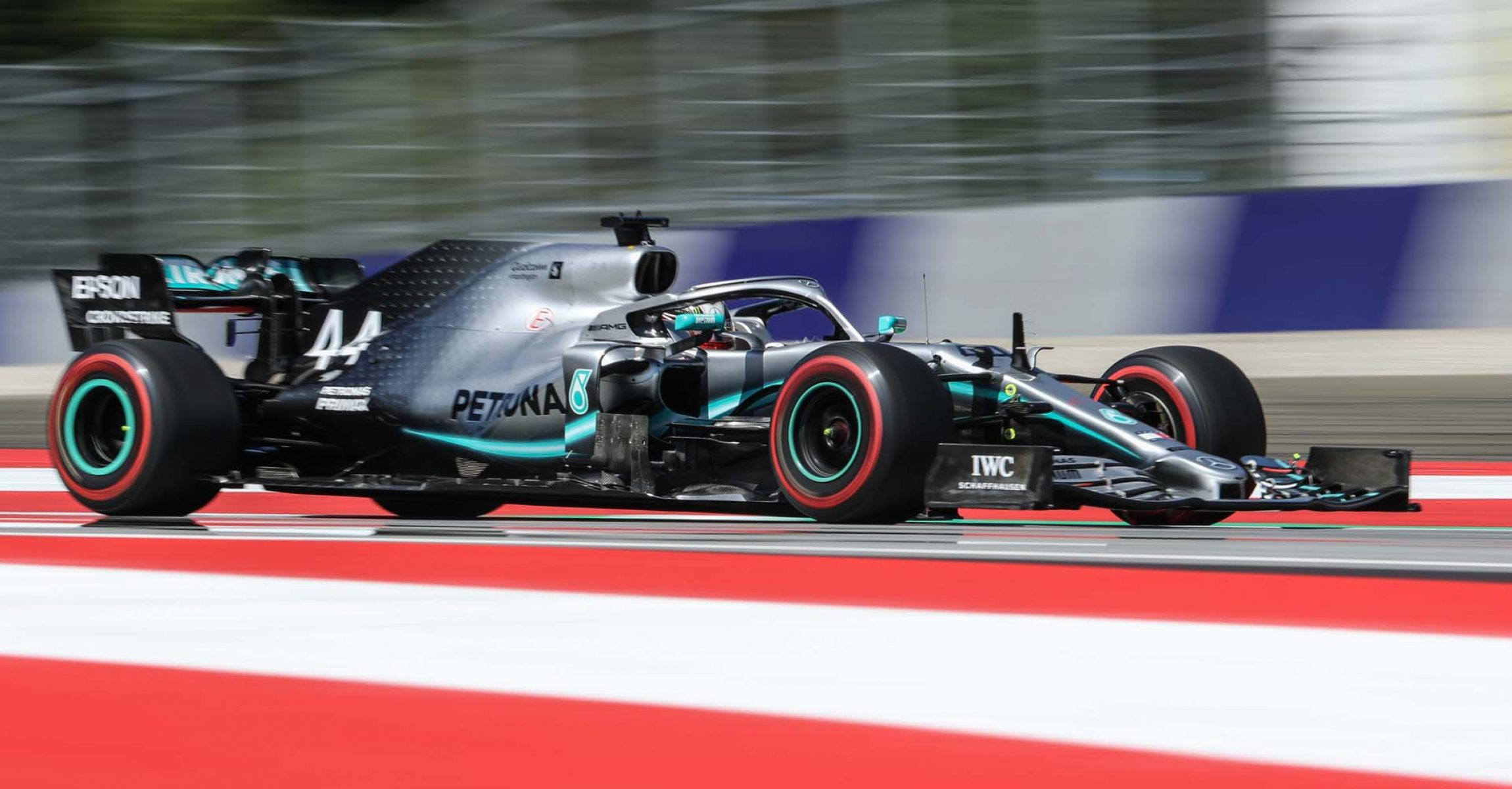 SPIELBERG,AUSTRIA,28.JUN.19 - MOTORSPORTS, FORMULA 1 - Grand Prix of Austria, Red Bull Ring, free practice. Image shows Lewis Hamilton (GBR/ Mercedes). Photo: GEPA pictures/ Harald Steiner - For editorial use only. Image is free of charge.