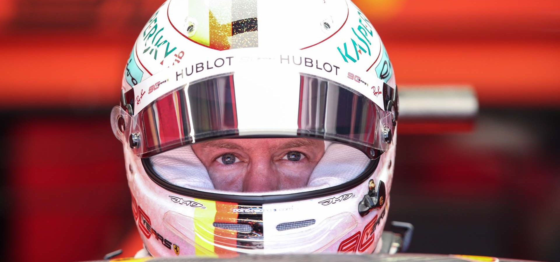 SPIELBERG,AUSTRIA,28.JUN.19 - MOTORSPORTS, FORMULA 1 - Grand Prix of Austria, Red Bull Ring, free practice. Image shows Sebastian Vettel (GER/ Ferrari). Photo: GEPA pictures/ Harald Steiner - For editorial use only. Image is free of charge.