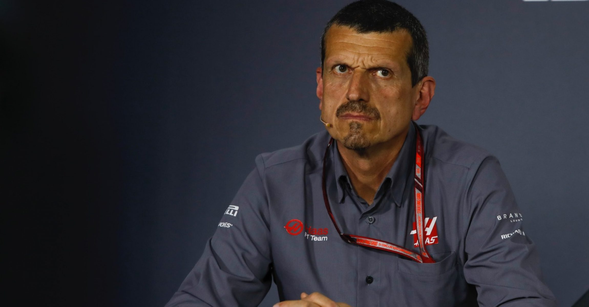 Guenther Steiner (ITA) Haas F1 Team Principal in the Press Conference at Formula One World Championship, Rd2, Bahrain Grand Prix, Practice, Bahrain International Circuit, Sakhir, Bahrain, Friday 6 April 2018.