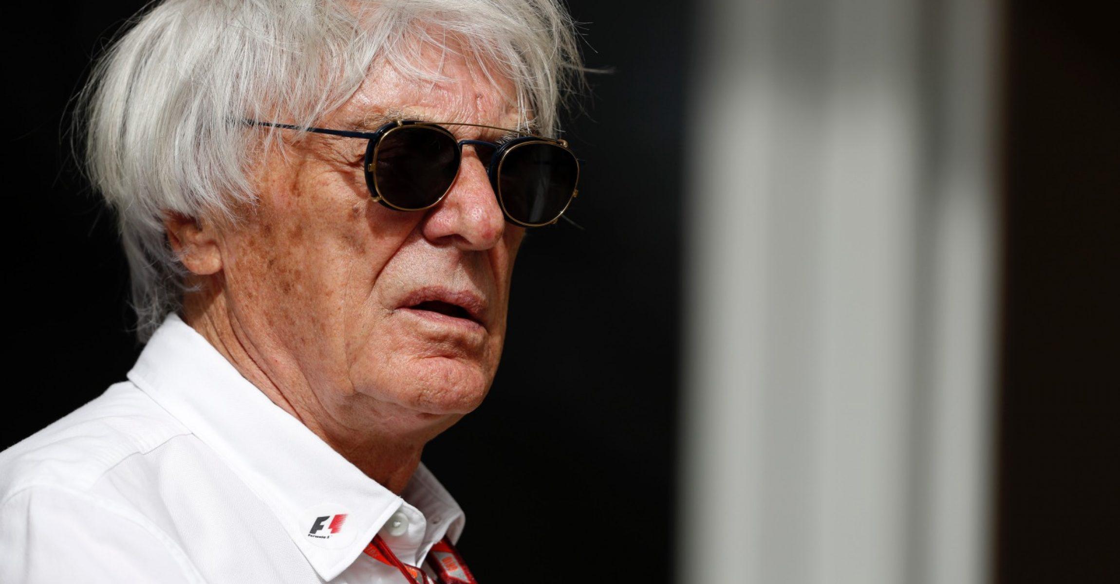Bernie Ecclestone (GBR) at Formula One World Championship, Rd2, Bahrain Grand Prix, Race, Bahrain International Circuit, Sakhir, Bahrain, Sunday 8 April 2018.