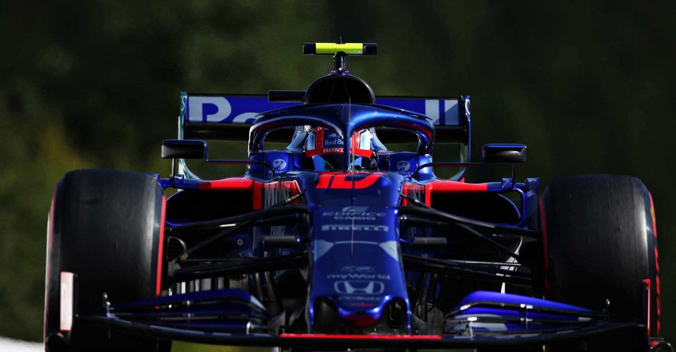 SPA, BELGIUM - AUGUST 30: Pierre Gasly of France driving the (10) Scuderia Toro Rosso STR14 Honda on track during practice for the F1 Grand Prix of Belgium at Circuit de Spa-Francorchamps on August 30, 2019 in Spa, Belgium. (Photo by Charles Coates/Getty Images) // Getty Images / Red Bull Content Pool  // AP-21DWYFR311W11 // Usage for editorial use only //
