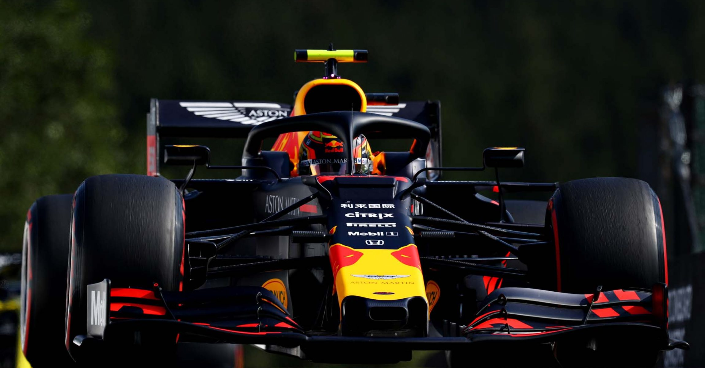 SPA, BELGIUM - AUGUST 31: Alexander Albon of Thailand driving the (23) Aston Martin Red Bull Racing RB15 on track during qualifying for the F1 Grand Prix of Belgium at Circuit de Spa-Francorchamps on August 31, 2019 in Spa, Belgium. (Photo by Mark Thompson/Getty Images) // Getty Images / Red Bull Content Pool  // AP-21E8SH9EW2111 // Usage for editorial use only //