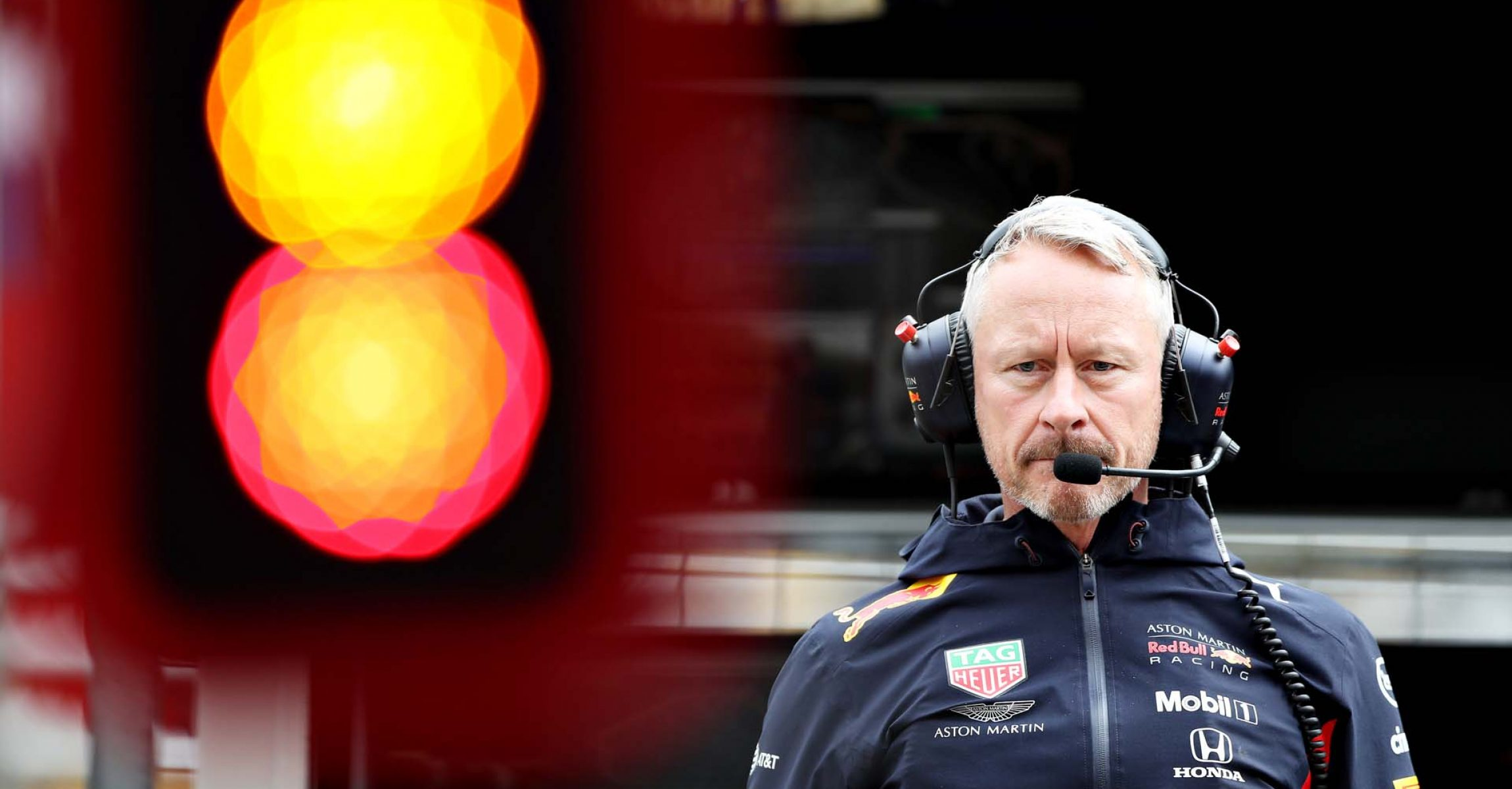 SAO PAULO, BRAZIL - NOVEMBER 15: Red Bull Racing Team Manager Jonathan Wheatley looks on from the pitwall during practice for the F1 Grand Prix of Brazil at Autodromo Jose Carlos Pace on November 15, 2019 in Sao Paulo, Brazil. (Photo by Mark Thompson/Getty Images) // Getty Images / Red Bull Content Pool  // AP-226QQUEFD1W11 // Usage for editorial use only //
