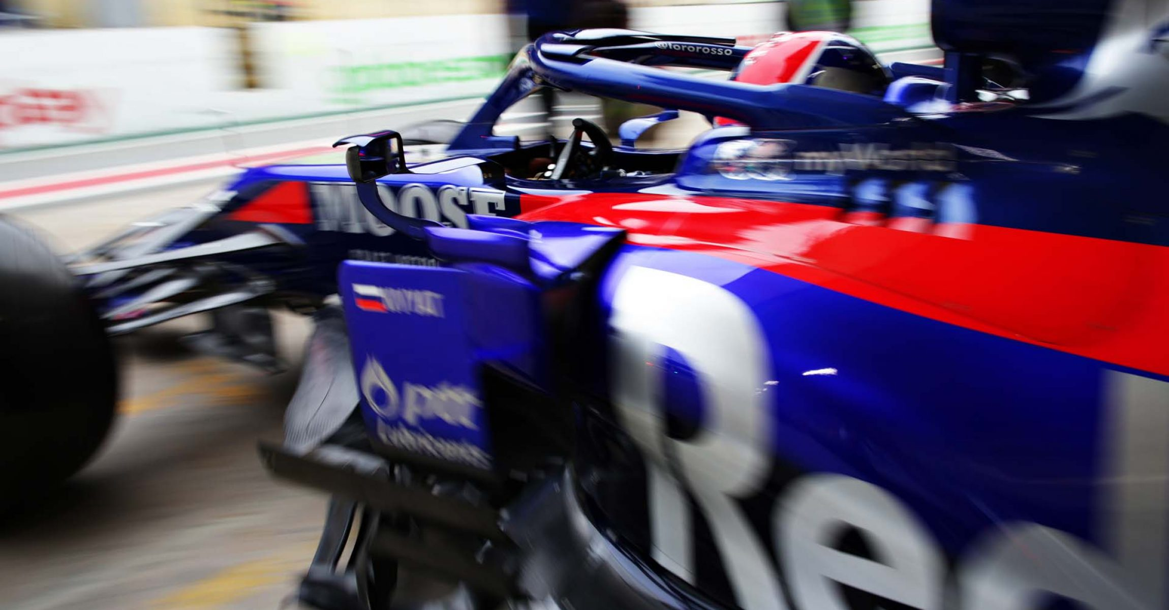 SAO PAULO, BRAZIL - NOVEMBER 15: Daniil Kvyat driving the (26) Scuderia Toro Rosso STR14 Honda leaves the garage during practice for the F1 Grand Prix of Brazil at Autodromo Jose Carlos Pace on November 15, 2019 in Sao Paulo, Brazil. (Photo by Peter Fox/Getty Images) // Getty Images / Red Bull Content Pool // AP-226RTNGE92111 // Usage for editorial use only //