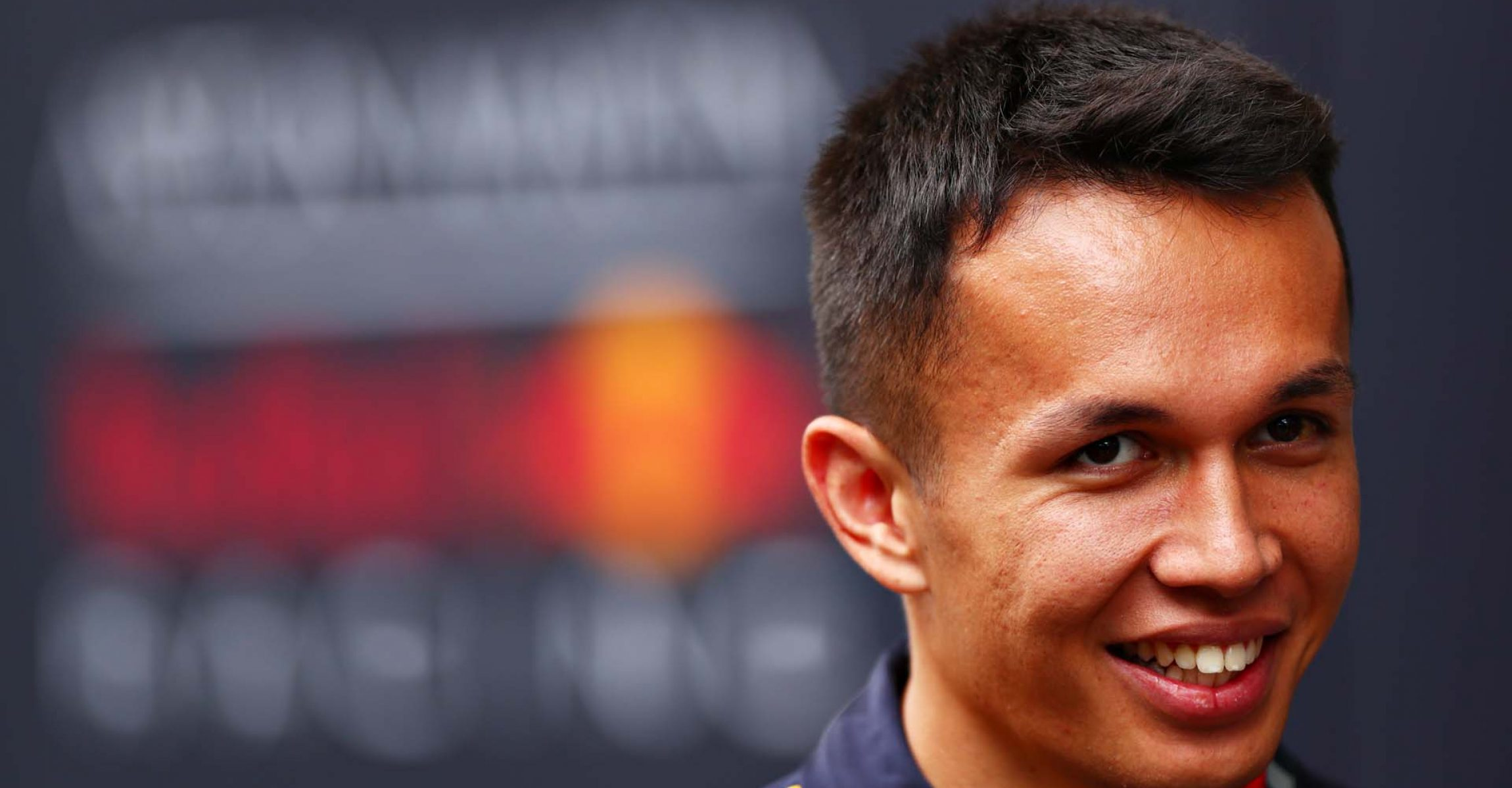 SAO PAULO, BRAZIL - NOVEMBER 14: Alexander Albon of Thailand and Red Bull Racing talks to the media in the Paddock during previews ahead of the F1 Grand Prix of Brazil at Autodromo Jose Carlos Pace on November 14, 2019 in Sao Paulo, Brazil. (Photo by Dan Istitene/Getty Images) // Getty Images / Red Bull Content Pool // AP-226DRAH252111 // Usage for editorial use only //