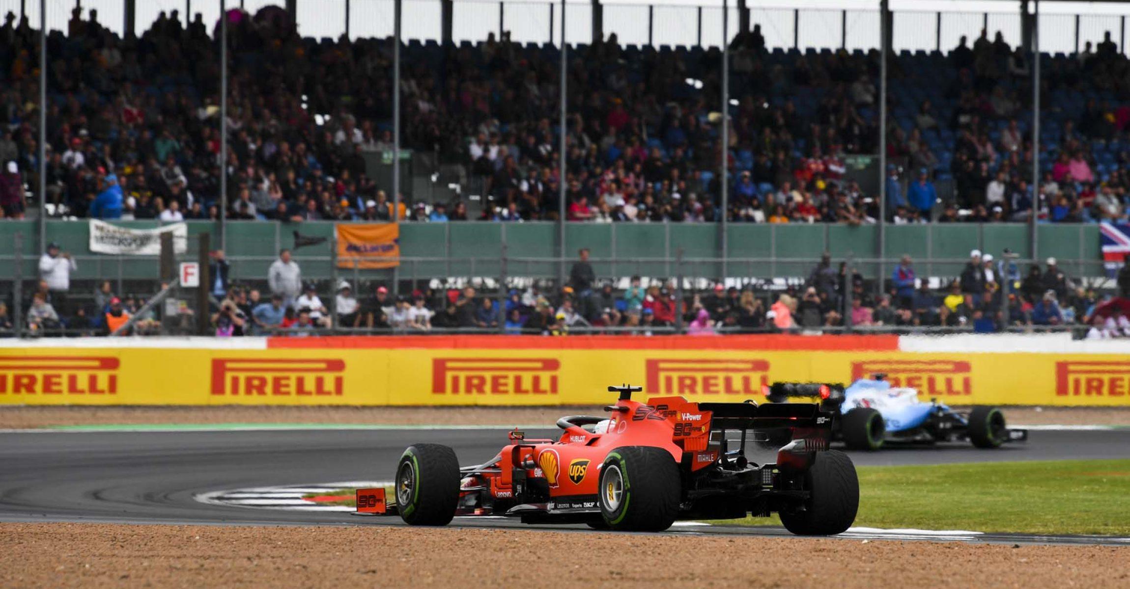 SILVERSTONE, UNITED KINGDOM - JULY 13: Sebastian Vettel, Ferrari SF90 during the British GP at Silverstone on July 13, 2019 in Silverstone, United Kingdom. (Photo by Mark Sutton / LAT Images)