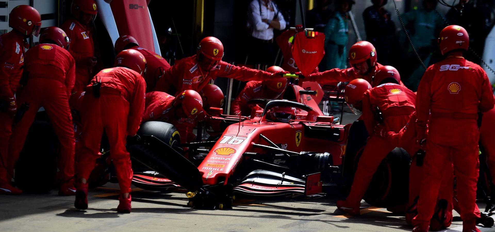GP GRAN BRETAGNA F1/2019 - DOMENICA 14/07/2019 credit: @Scuderia Ferrari Press Office Charles Leclerc pitstop