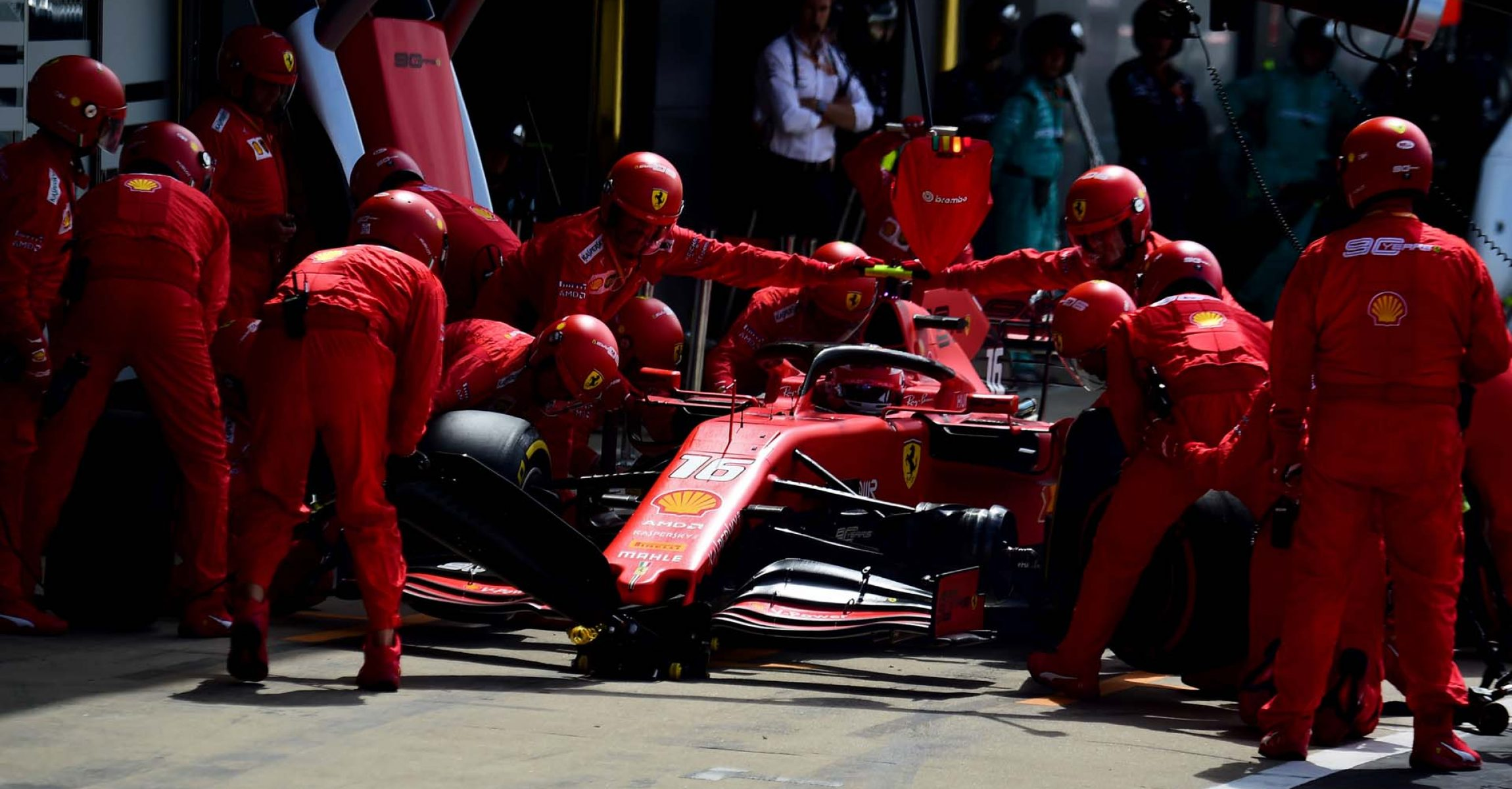 GP GRAN BRETAGNA F1/2019 - DOMENICA 14/07/2019 credit: @Scuderia Ferrari Press Office Charles Leclerc pitstop