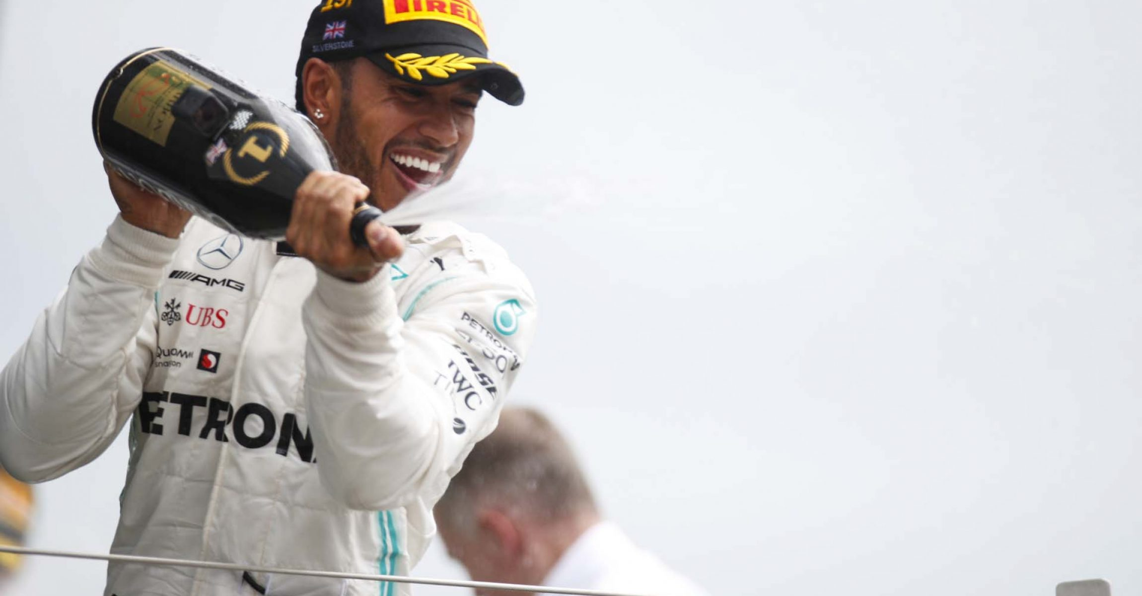 2019 British Grand Prix, Sunday - LAT Images Lewis Hamilton Mercedes champagne