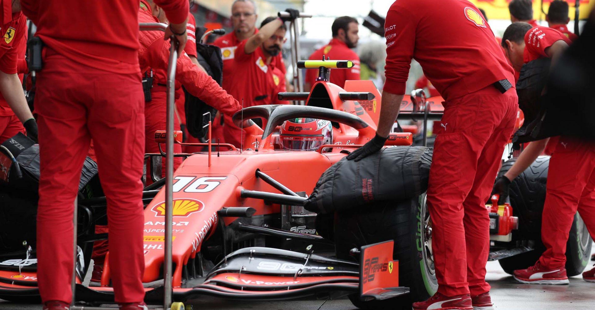 Italy, Italian Grand Prix 2019, Monza,  Charles Leclerc, Ferrari, tyre blankets